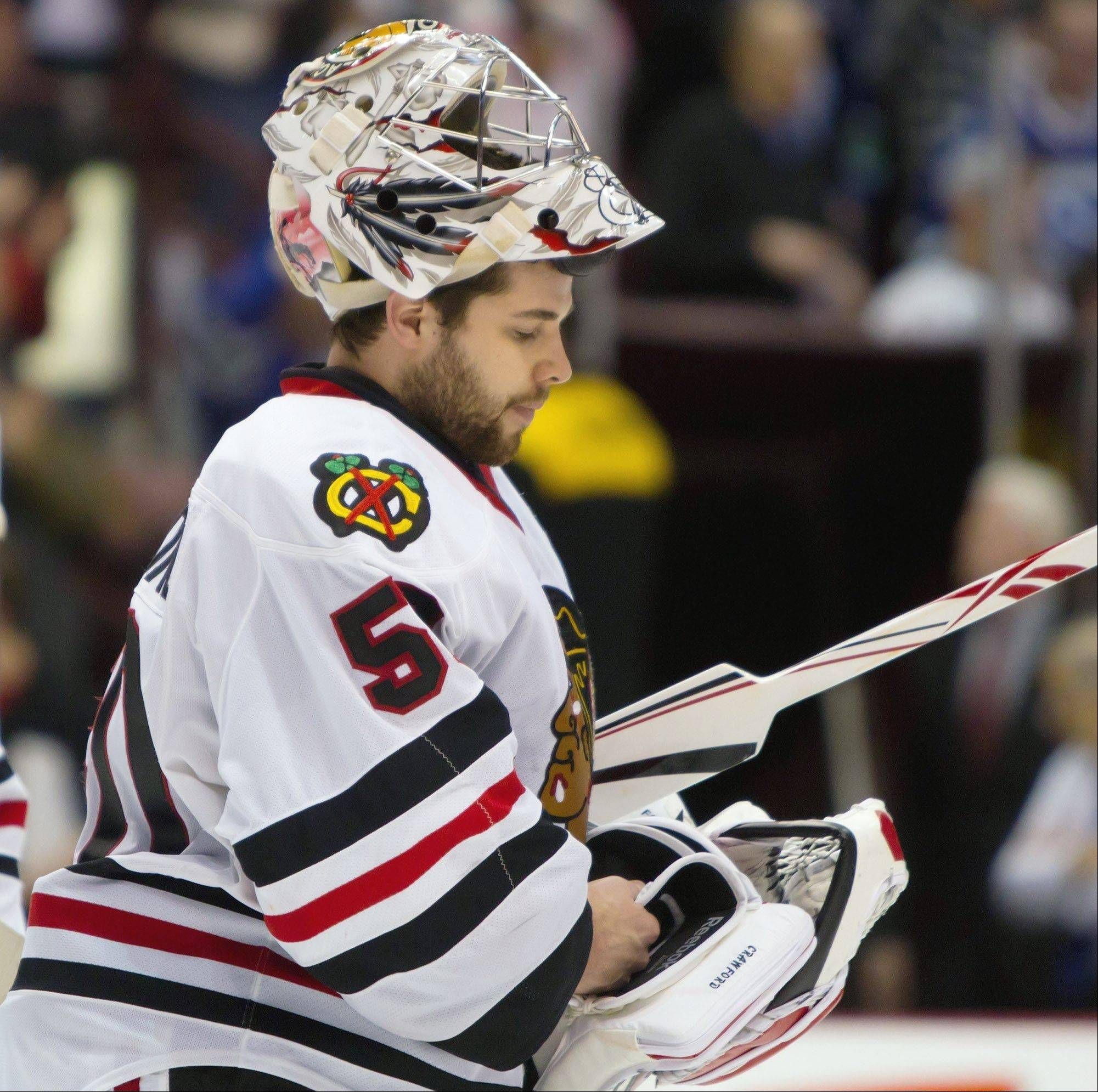 Goalie Corey Crawford and his Blackhawks teammates would have faced enormous pressure in a normal 82-game season after two straight first-round playoff exits, but the lockout-shortened campaign will be something else.