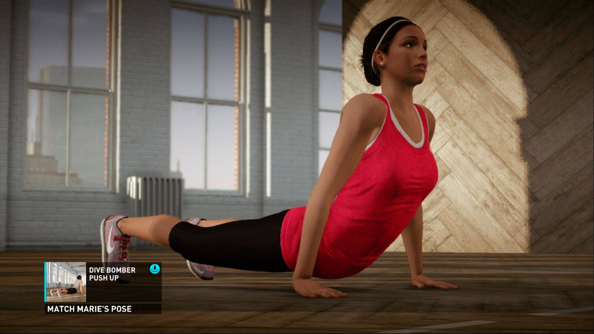 """Nike+ Kinect Training"" is essentially a four-week exercise program centered on three goals: get lean, get strong or get toned."