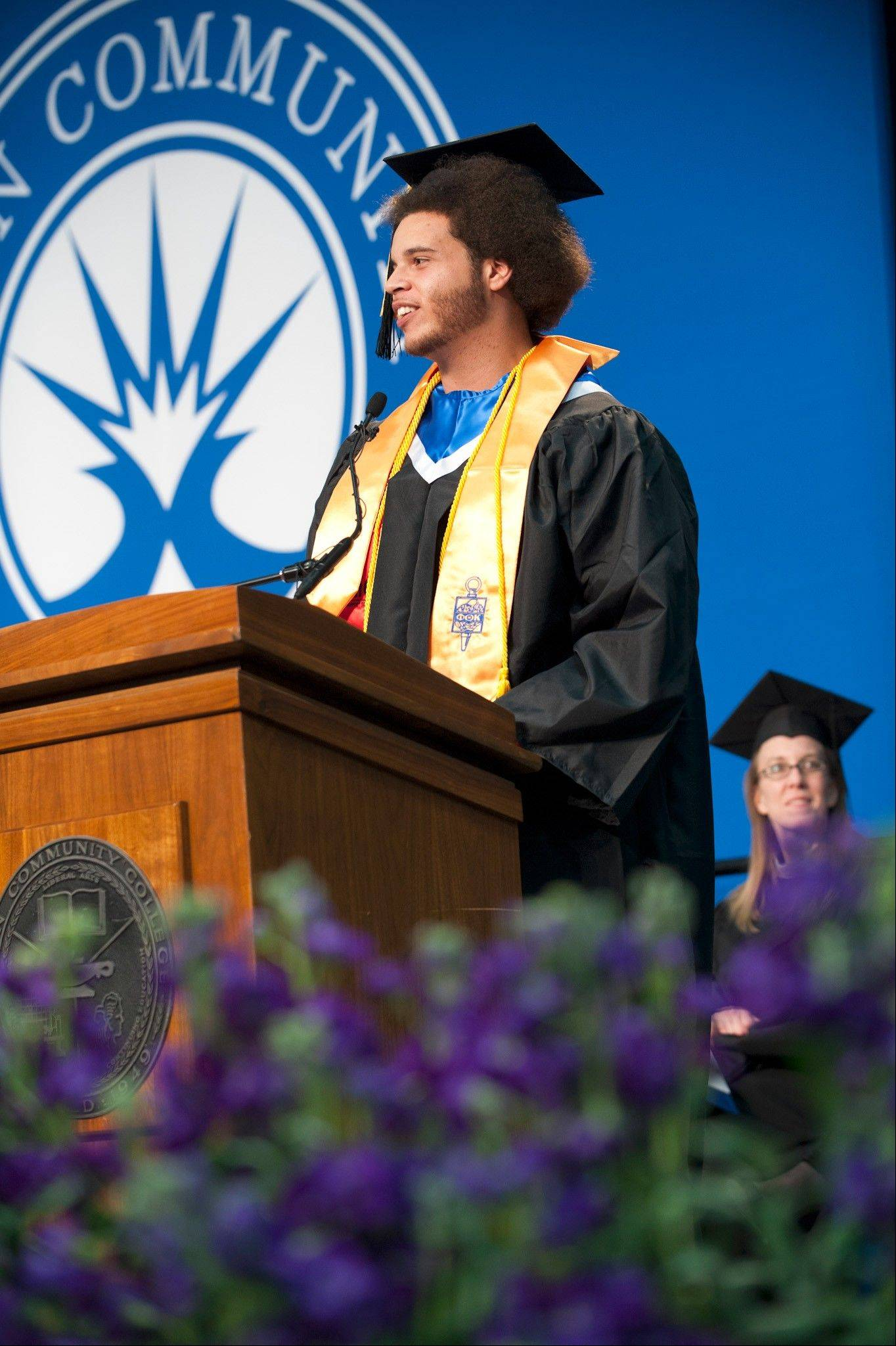Bryan Lantz was the student speaker at Elgin Community College�s December commencement ceremony. Lantz graduated from Larkin High School in 2010 and plans to continue his education at Judson University next fall.