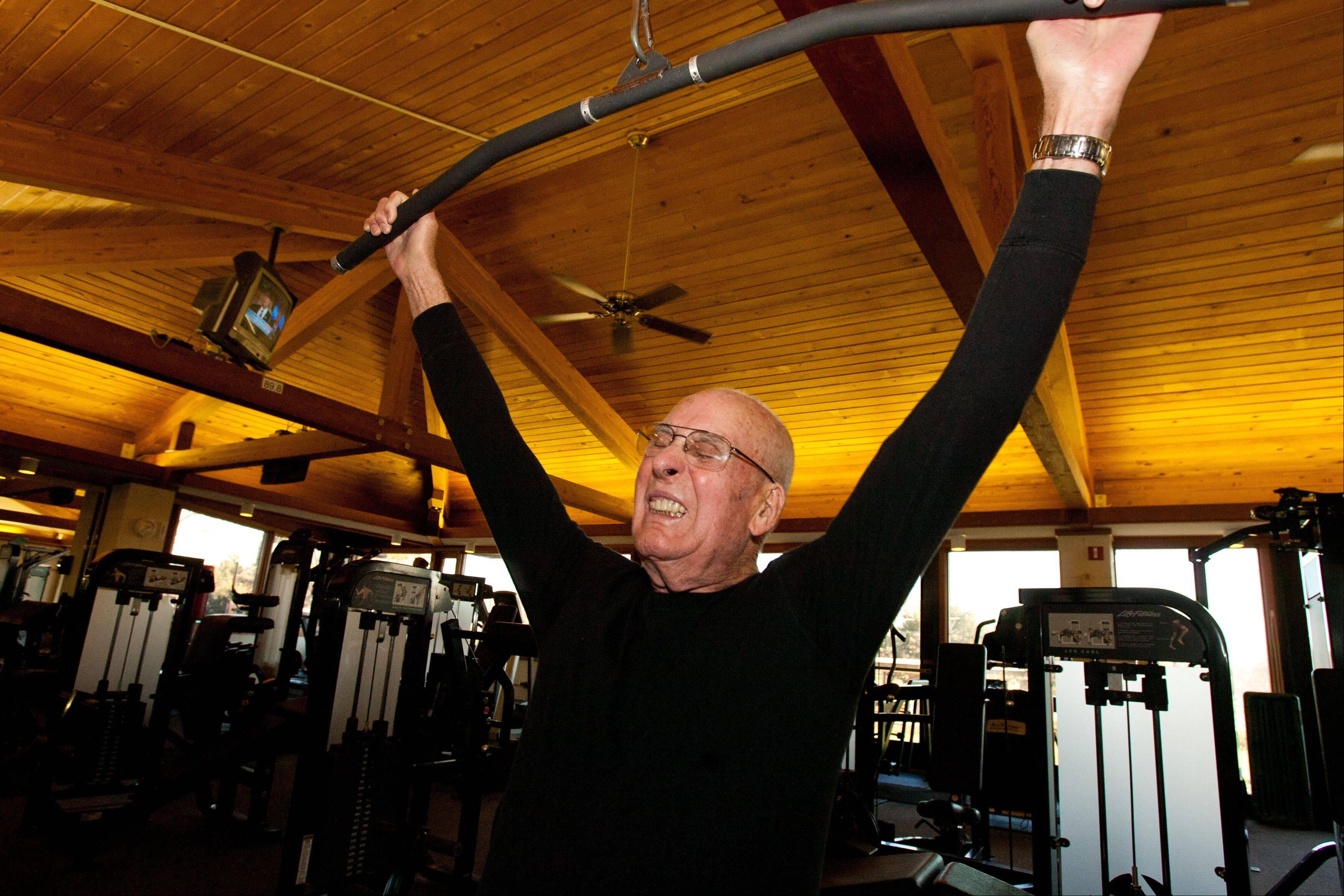 Charles Fultz's workout includes resistance training.