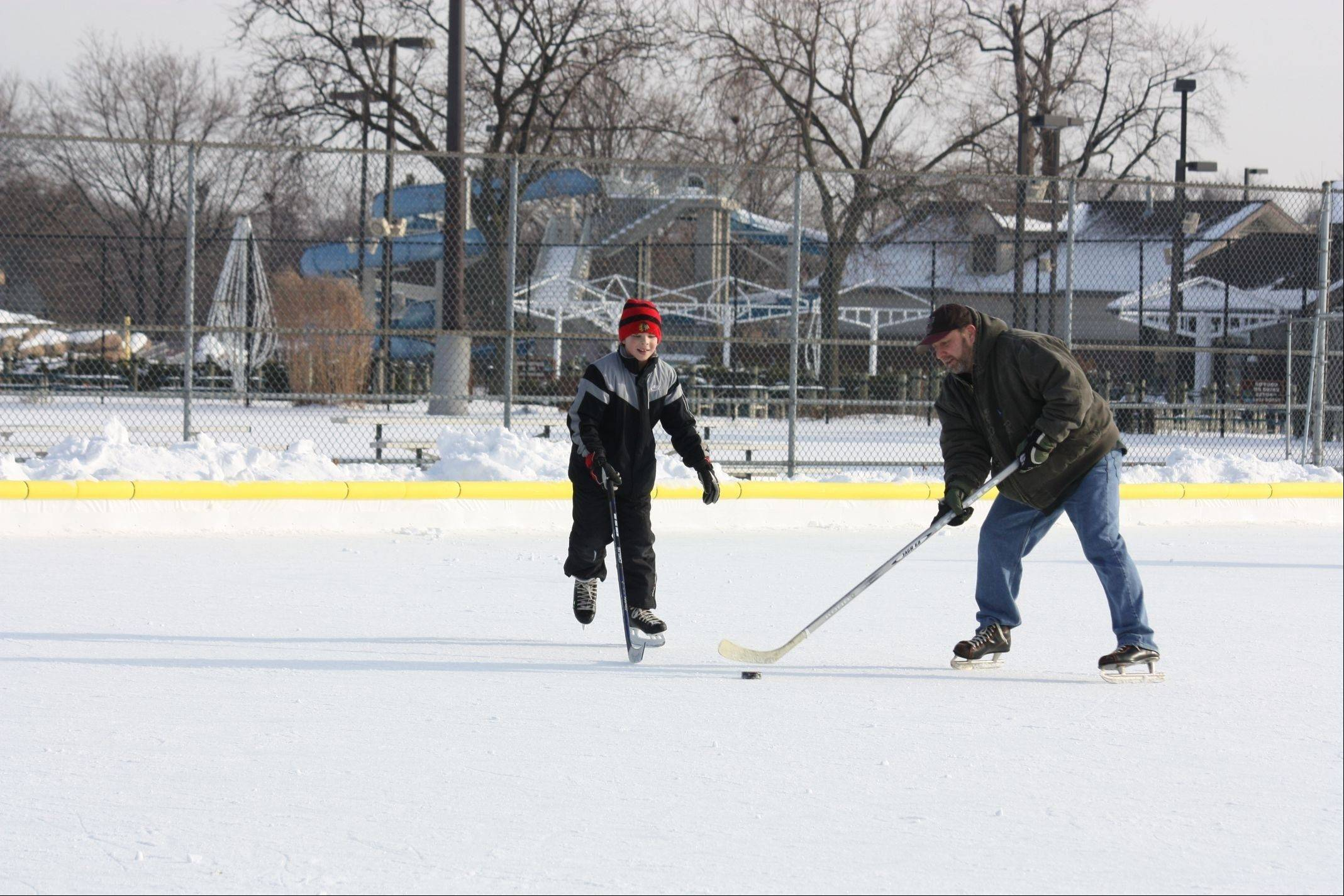 The Palatine Park District offers two unsupervised ice skating rinks at Community Park, 250 E. Wood St. One rink is for public skating and one is for ice hockey.