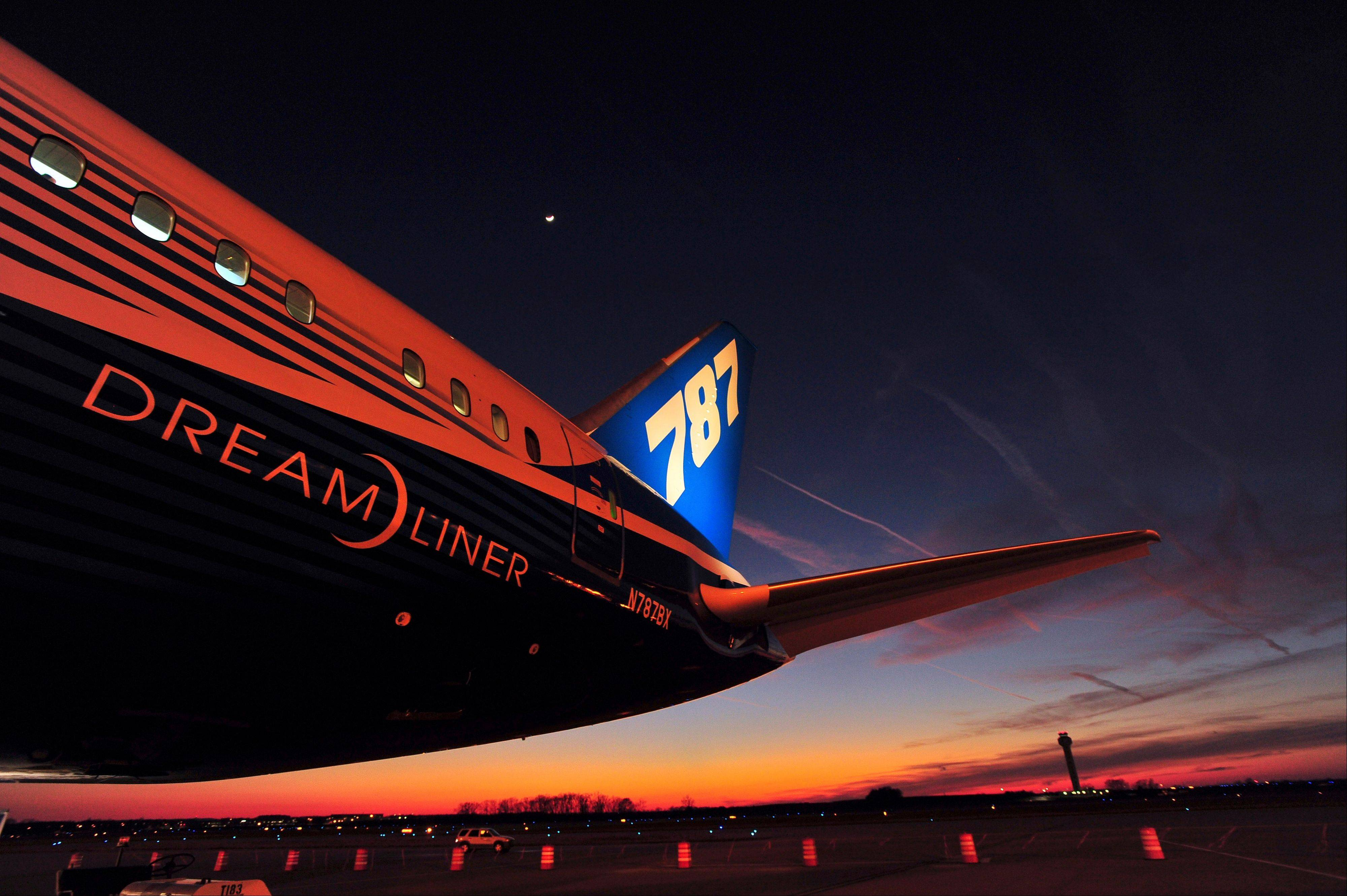 Boeing's newest aircraft, the Boeing 787, sits on the tarmac at Huntsville International Airport after a 3,600-mile flight from Dublin, in Huntsville, Ala. Boeing executives insisted Wednesday its 787 Dreamliner is safe.