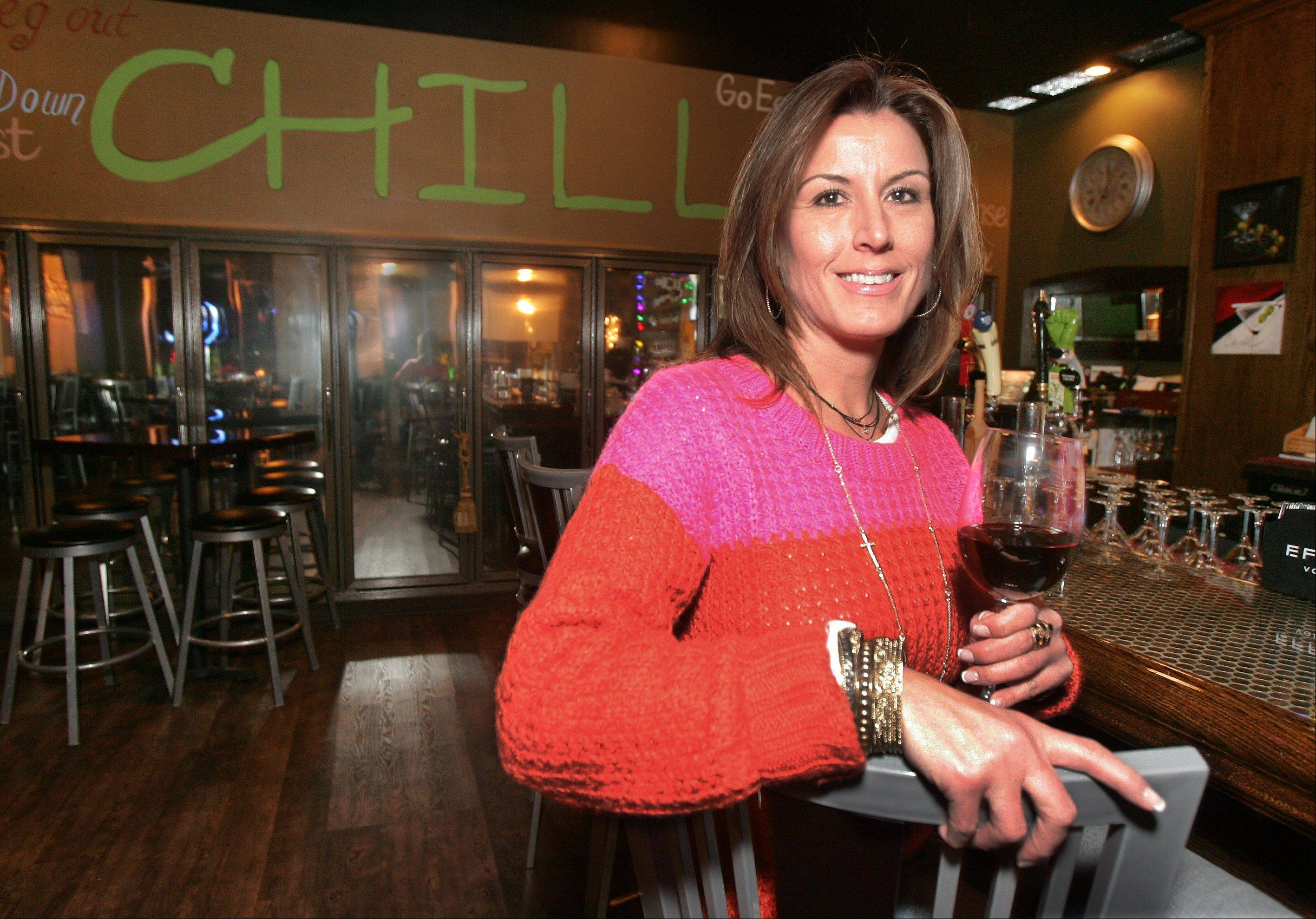 Owner Denise Just opened the Chill Martini & Wine Bar last year in Lake Villa.