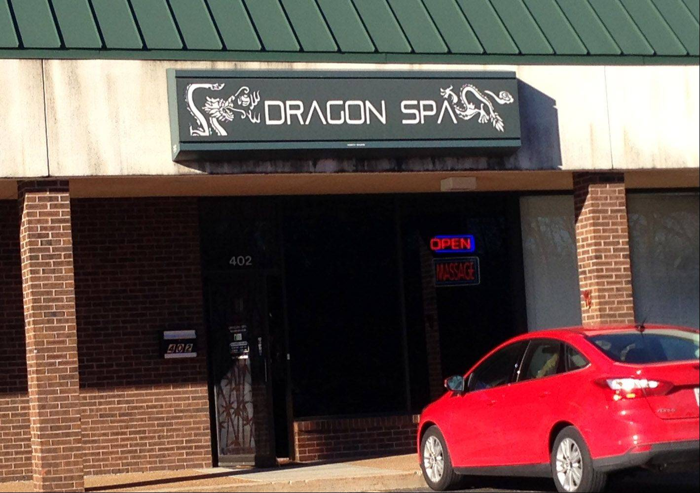 A Chicago woman has been charged with prostitution after offering a sex act to an undercover police officer at the Dragon Spa in Libertyville, authorities said Wednesday.