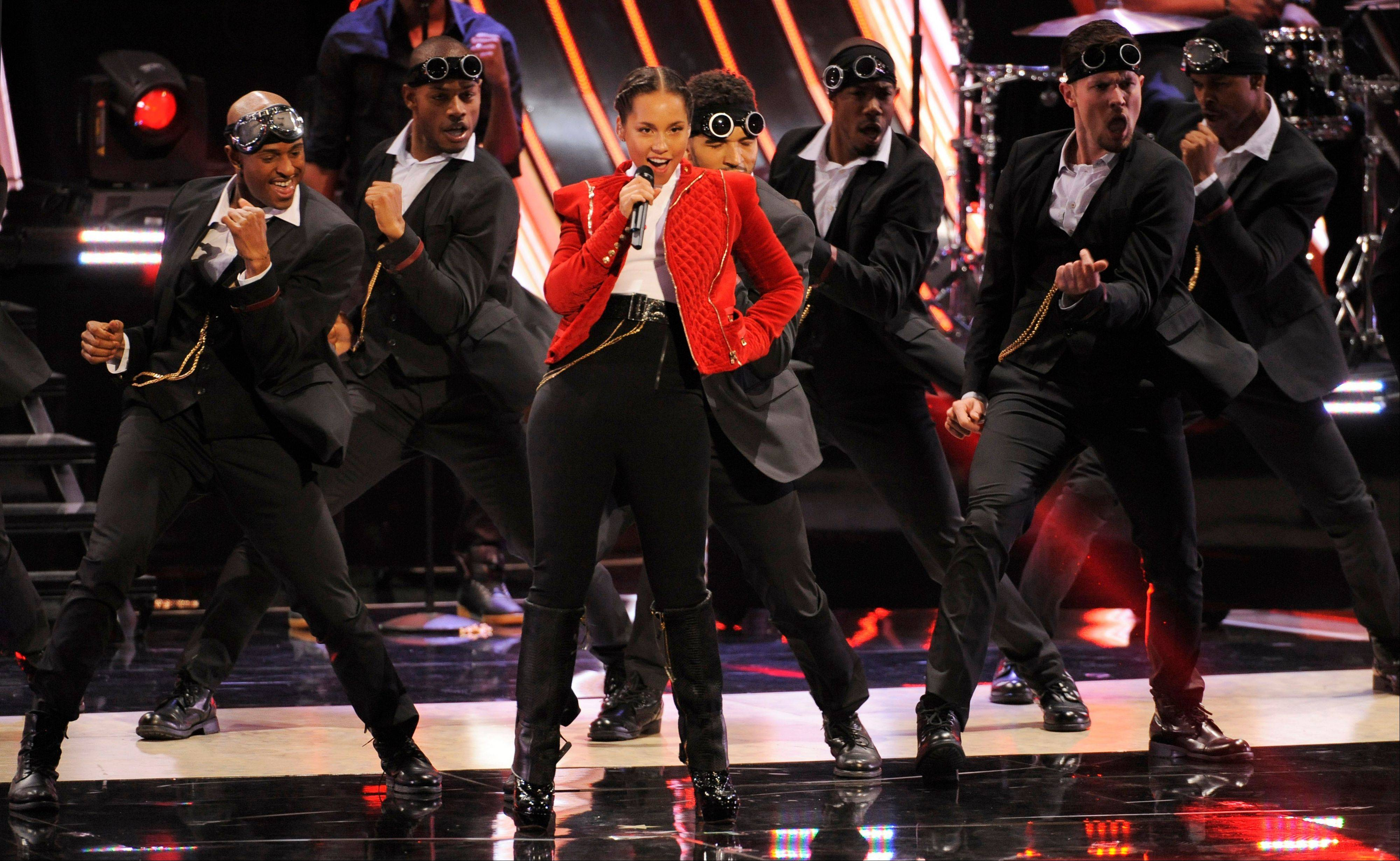 Alicia Keys performs at the People�s Choice Awards at the Nokia Theatre on Wednesday Jan. 9, 2013, in Los Angeles.