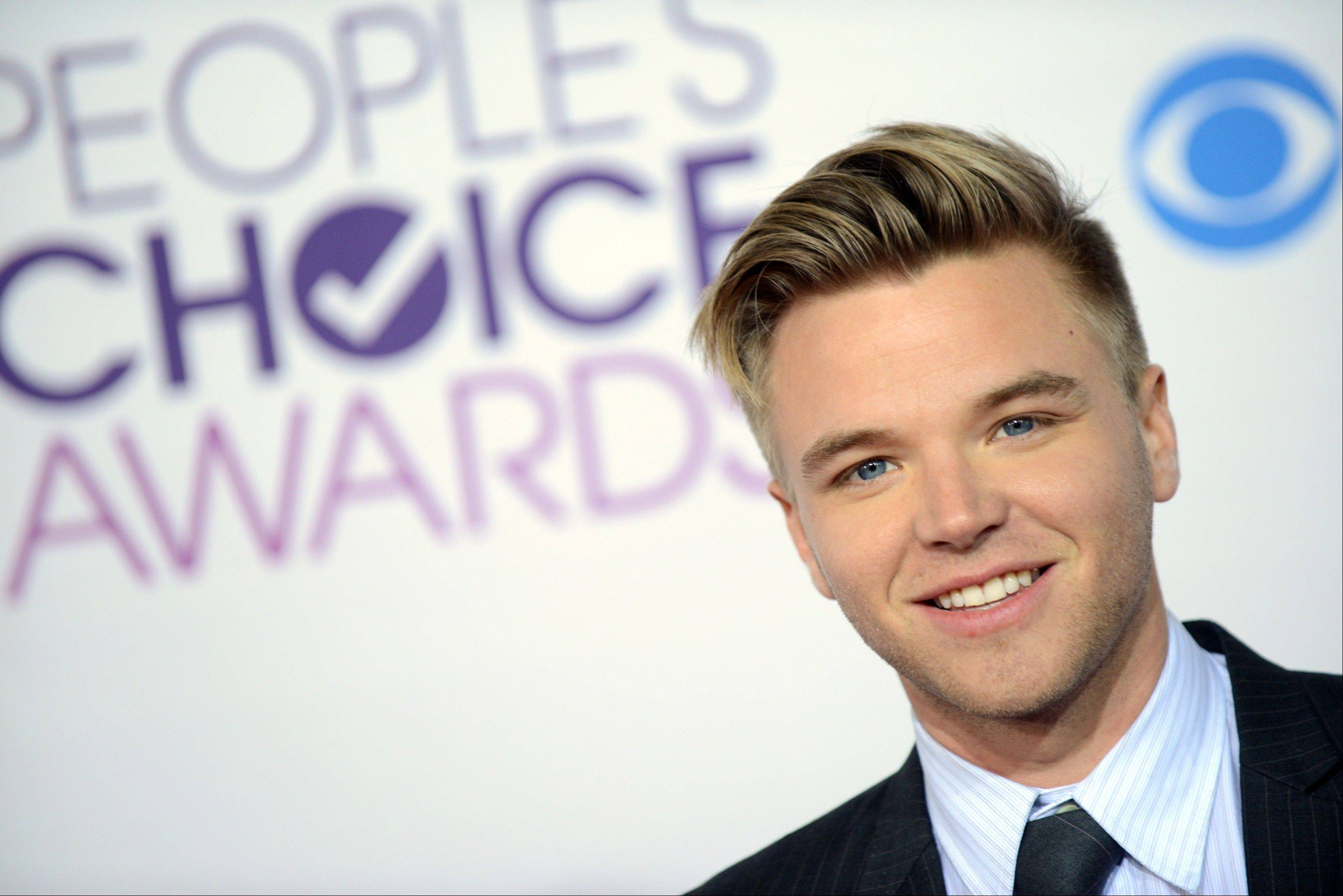 Brett Davern arrives at the People's Choice Awards at the Nokia Theatre on Wednesday Jan. 9, 2013, in Los Angeles.