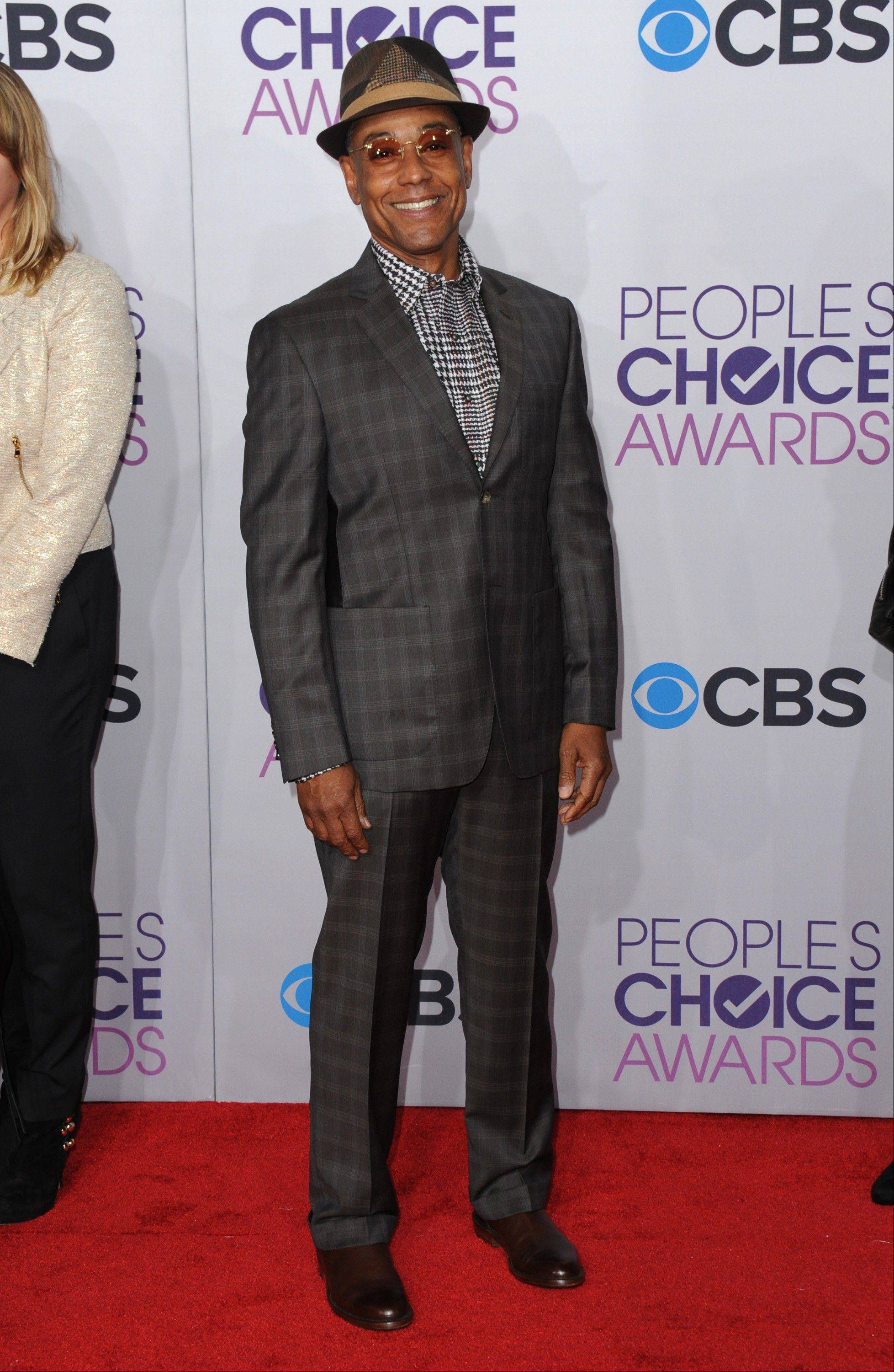 Giancarlo Esposito arrives at the People's Choice Awards at the Nokia Theatre on Wednesday Jan. 9, 2013, in Los Angeles.