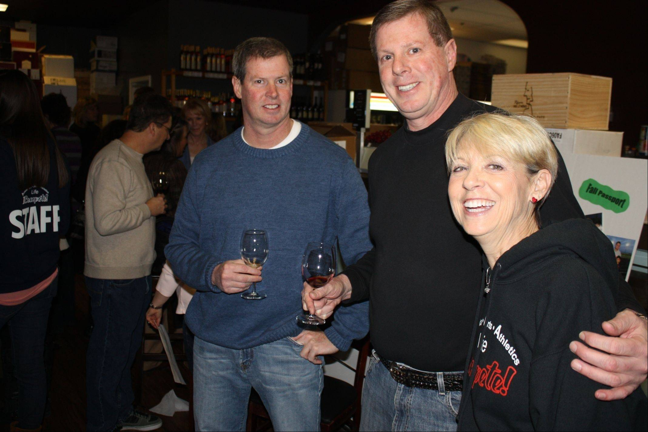 Paul Hass, Bob Hass and Nancy Grybash at the 2012 inaugural ICompete Wine Tasting event.