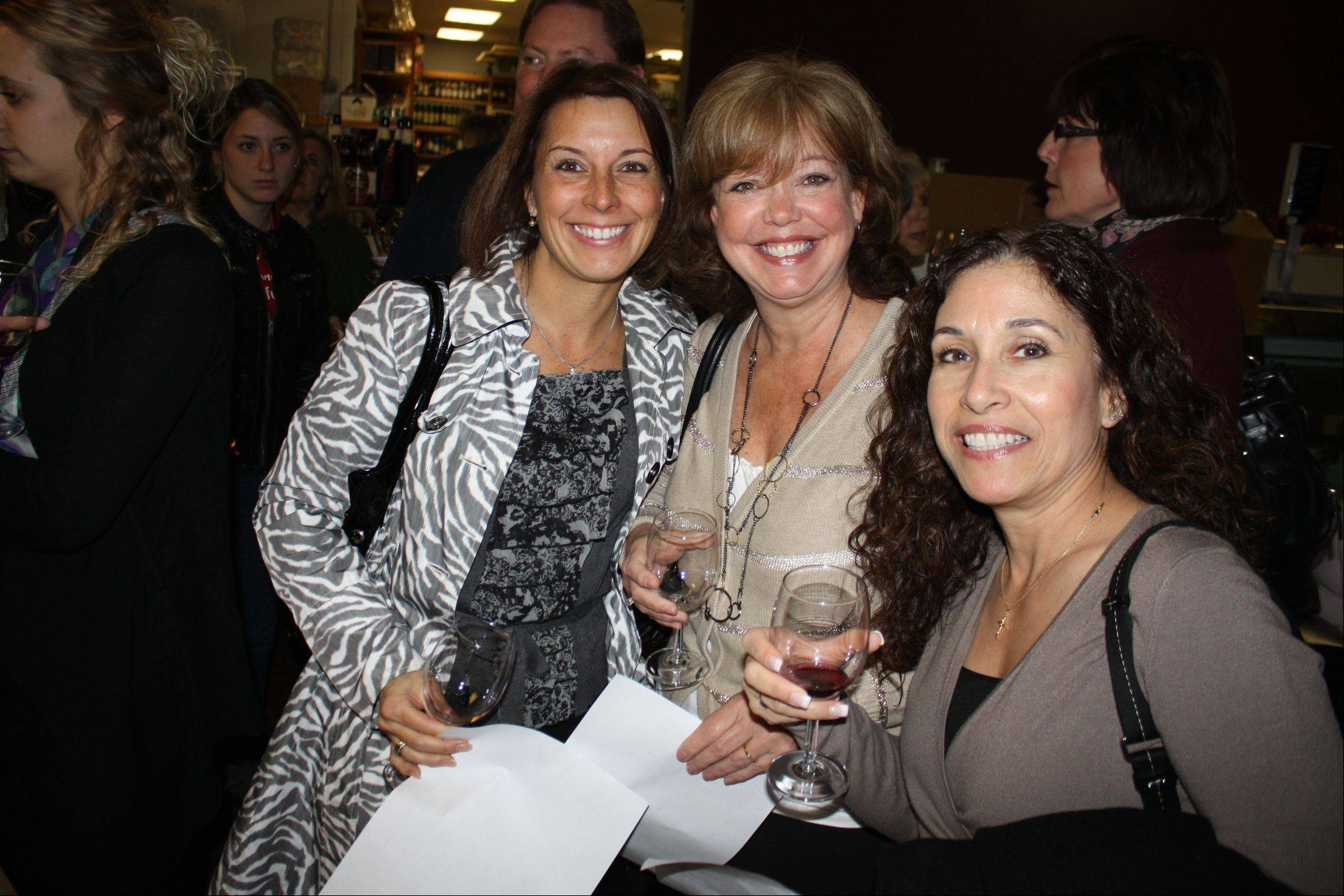 Lisa Bracker, Debbie Wille and Michelle Zordan at the fundraising ICompete Wine Tasting in 2012.