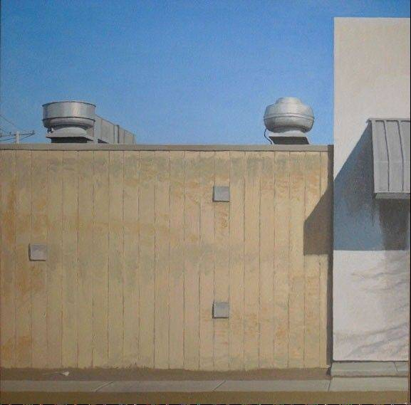 """Skokie"" is an oil on panel work by artist Hans Habeger. His works will be on display at the Dandelion Gallery Jan. 19 to Feb. 9."