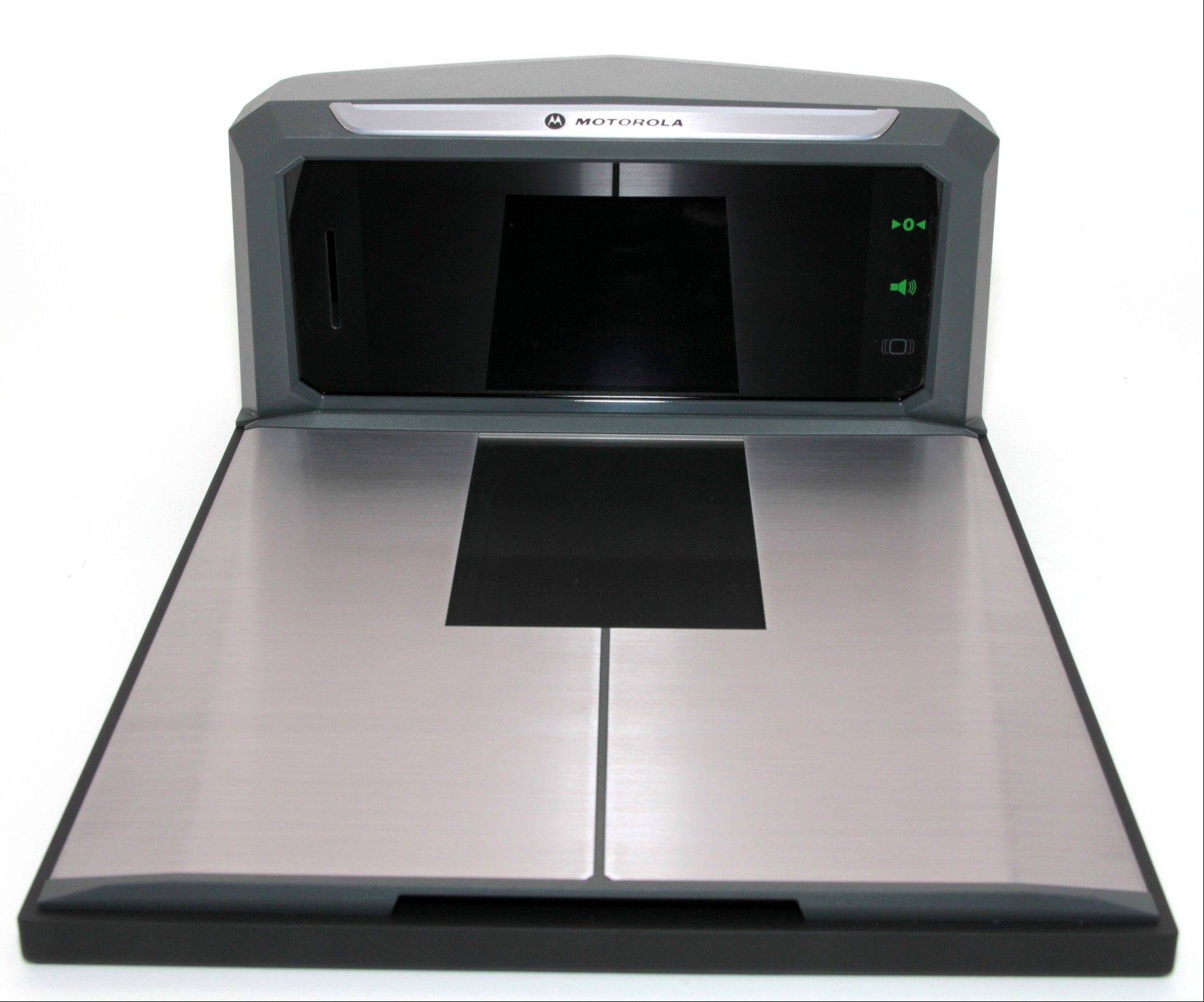 The MP6000 scanner/scale could be coming soon to a retailer near you. It will more easily scan bar codes on products and even accept your loyalty card or coupons directly from any smartphone or tablet. Schaumburg-based Motorola Solutions plans to unveil the device early next week.