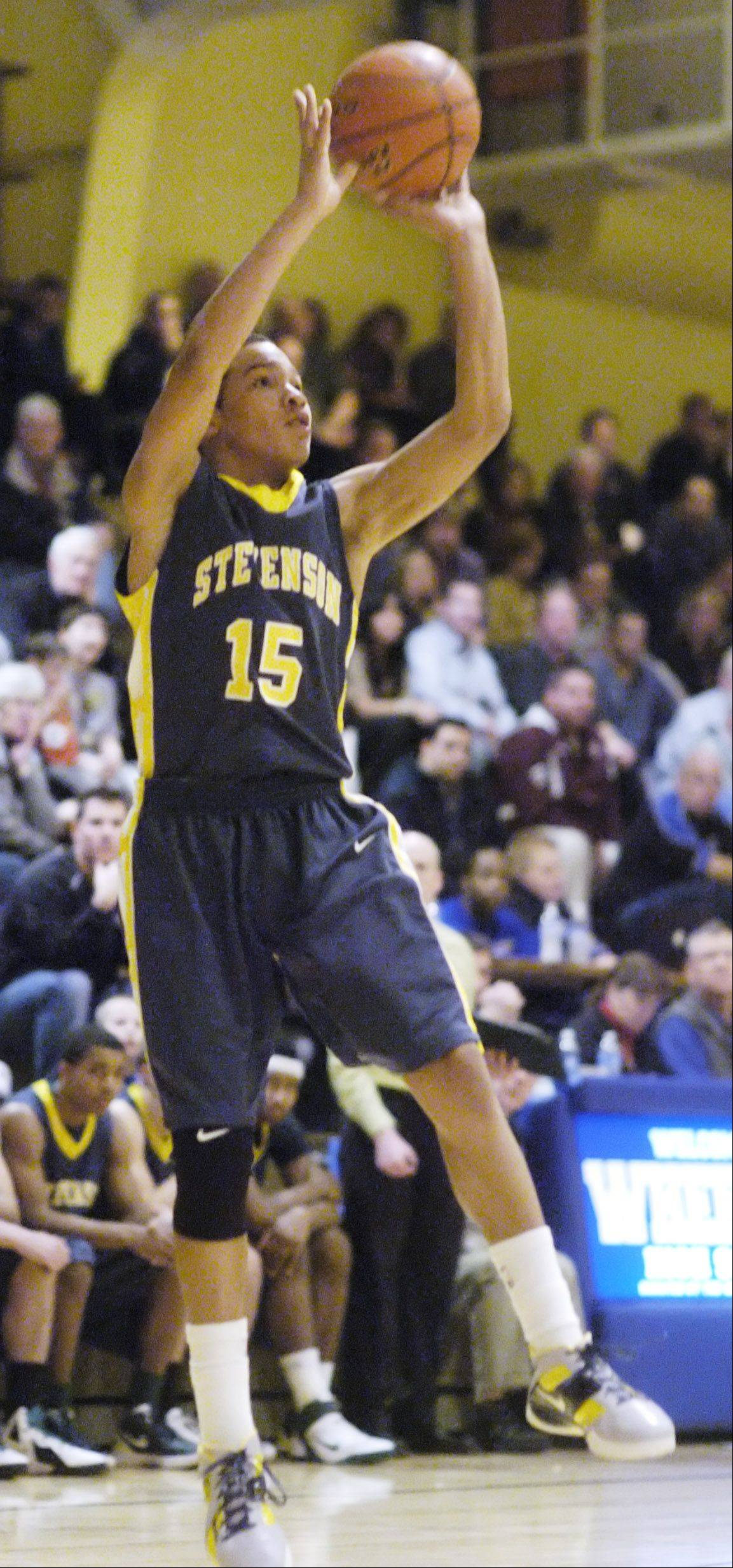 Stevenson�s Jalen Brunson earned second-team all-tournament honors for his efforts at Proviso West over the holidays.