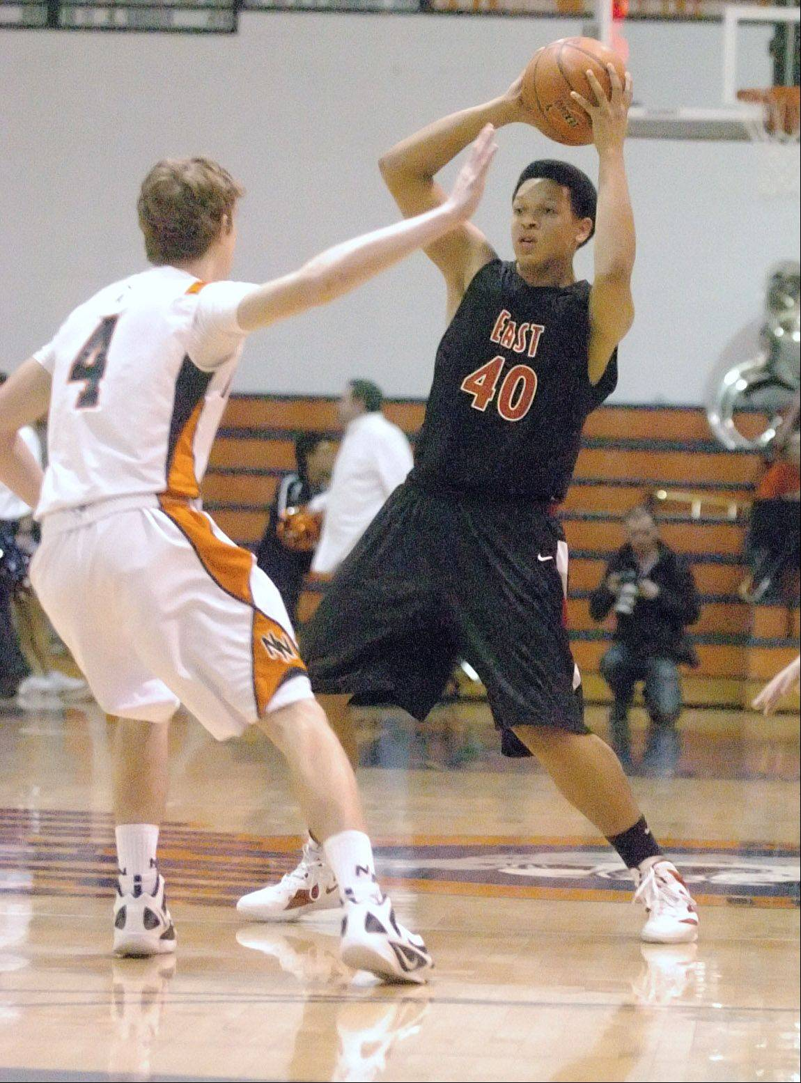 Despite its boys basketball team's success, Glenbard East could leave the DuPage Valley Conference for the Upstate Eight.