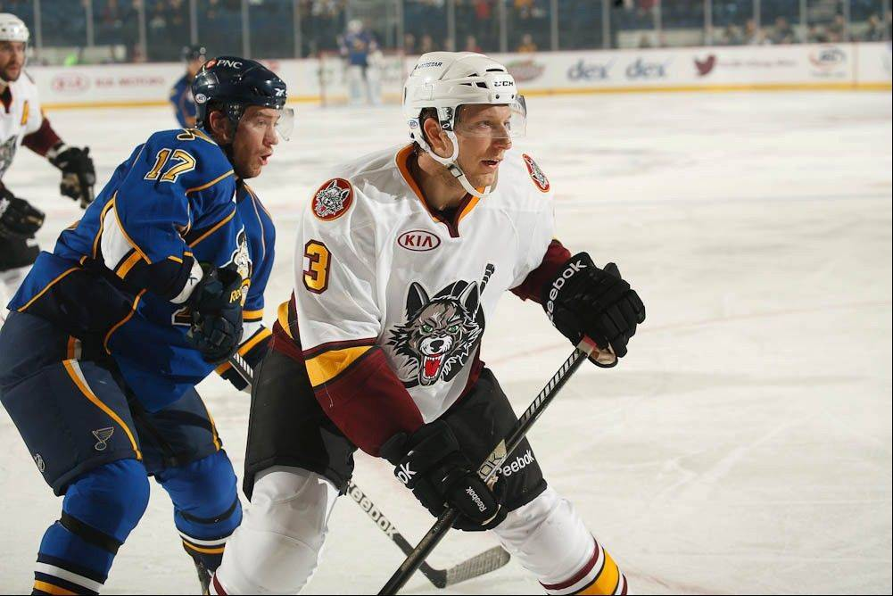 Zach Miskovic, Wolves defenseman, is the latest homegrown hockey player to suit up for the Chicago Wolves. With the NHL lockout over, the 27-year-old defenseman figures to see more action with the Wolves.