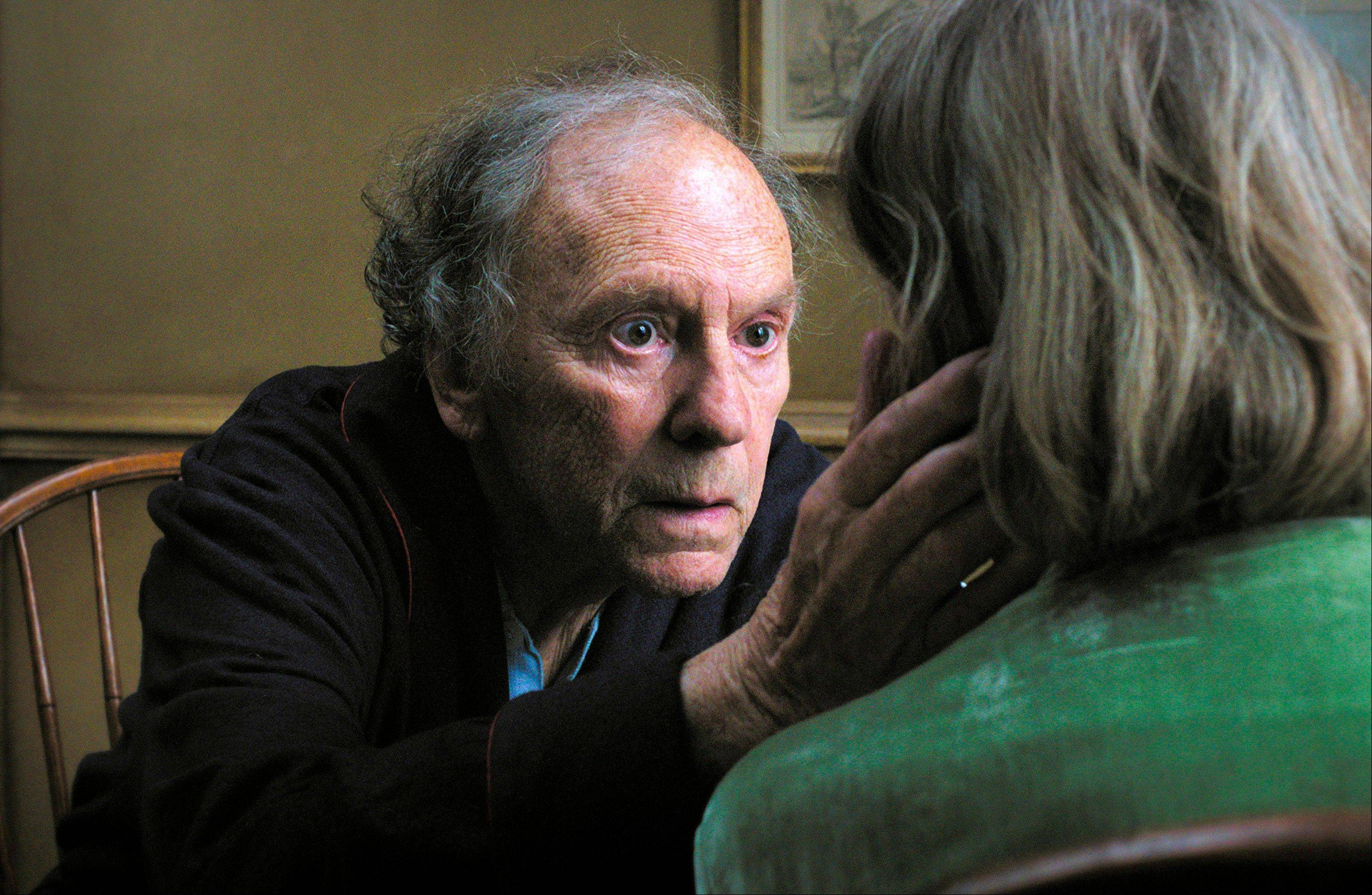 "Jean-Louis Trintignant plays a retired music teacher dealing with his stroke-victim wife in Michael Haneke's sentimentality-stripped romance ""Amour."""