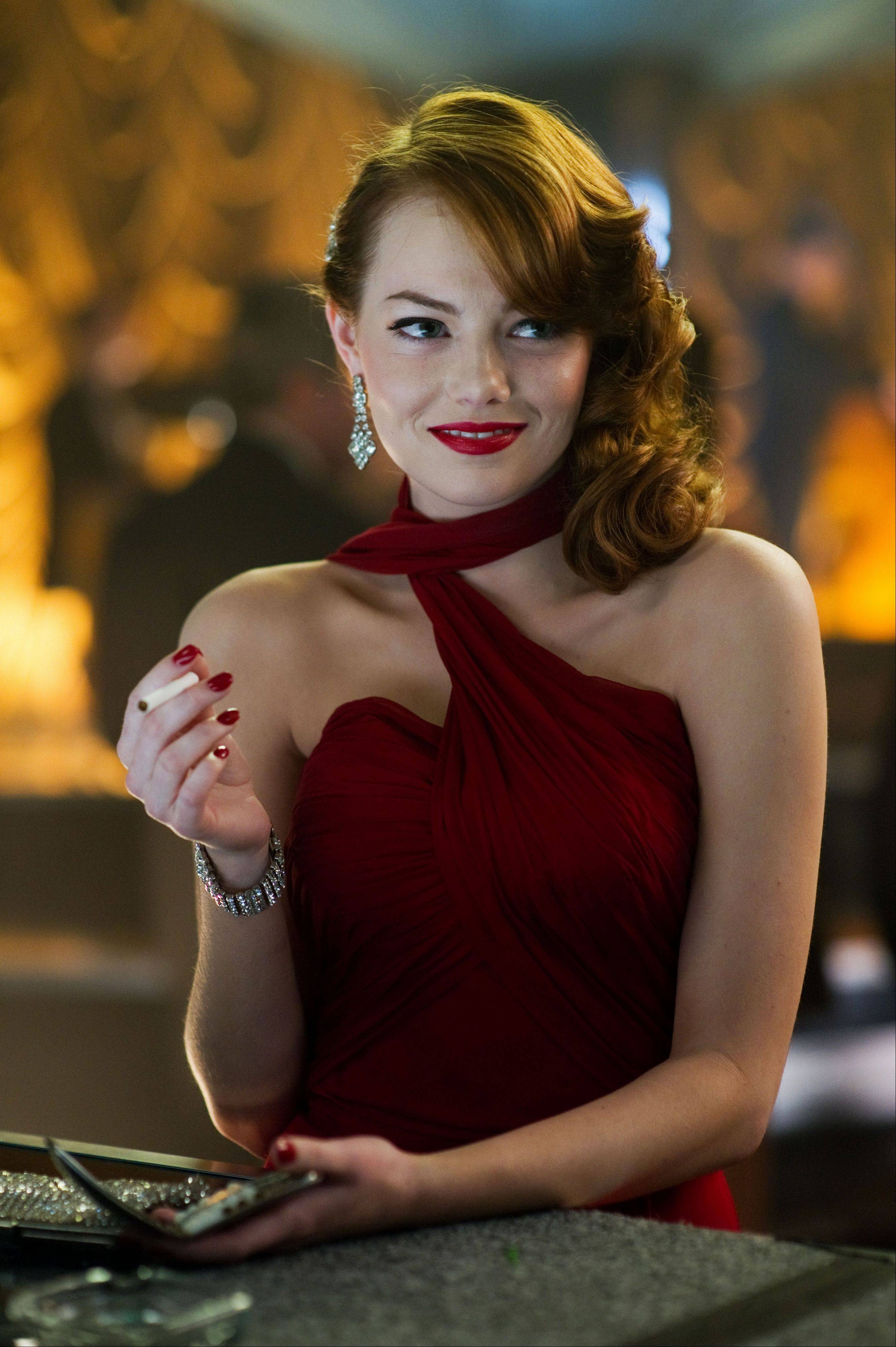 "Grace Faraday (Emma Stone) isn't sure which side to be on in ""Gangster Squad."""