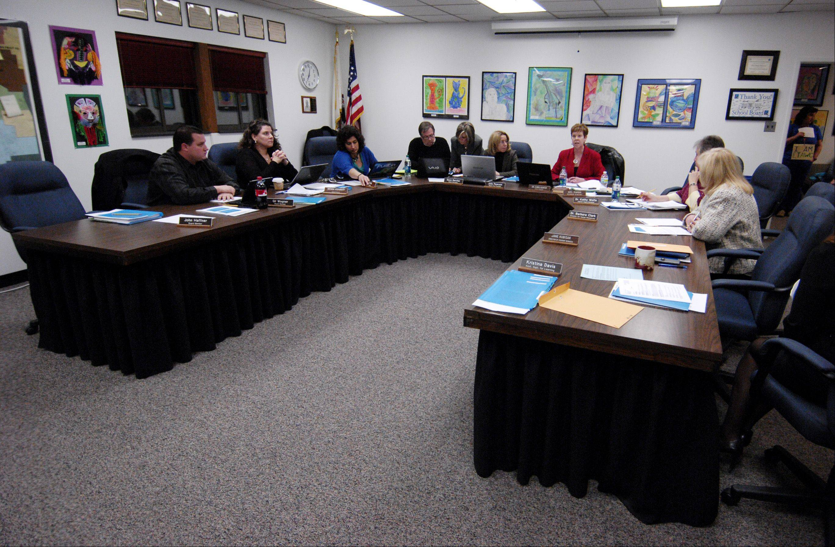 West Chicago District 33 school board announced during a meeting Thursday night it intends to implement its last contract offer to the teachers union of the two sides cannot come to agreement before Feb. 21.