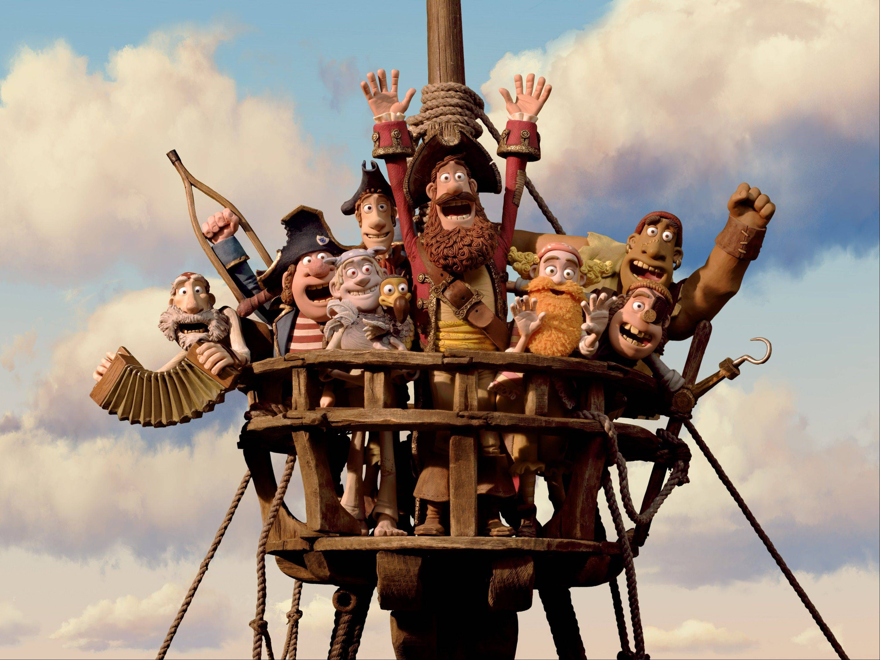 "In this film image released by Sony Pictures, the cast is shown in a scene from ""The Pirates! Band of Misfits."" The film was nominated for an Academy Award for best animated picture on Thursday, Jan. 10, 2013."