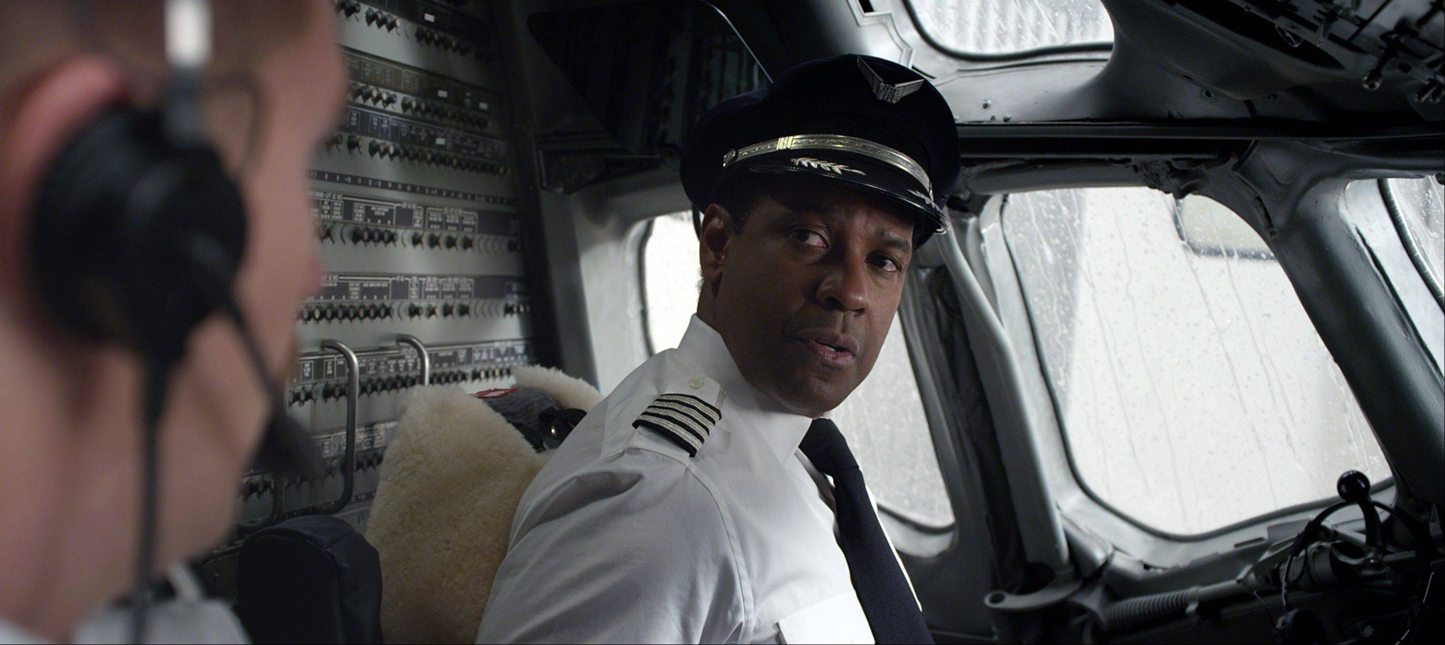 "This film image released by Paramount Pictures shows Denzel Washington in a scene from ""Flight."" Washington was nominated for an Academy Award for best actor on Thursday, Jan. 10, 2013, for his role in the film."