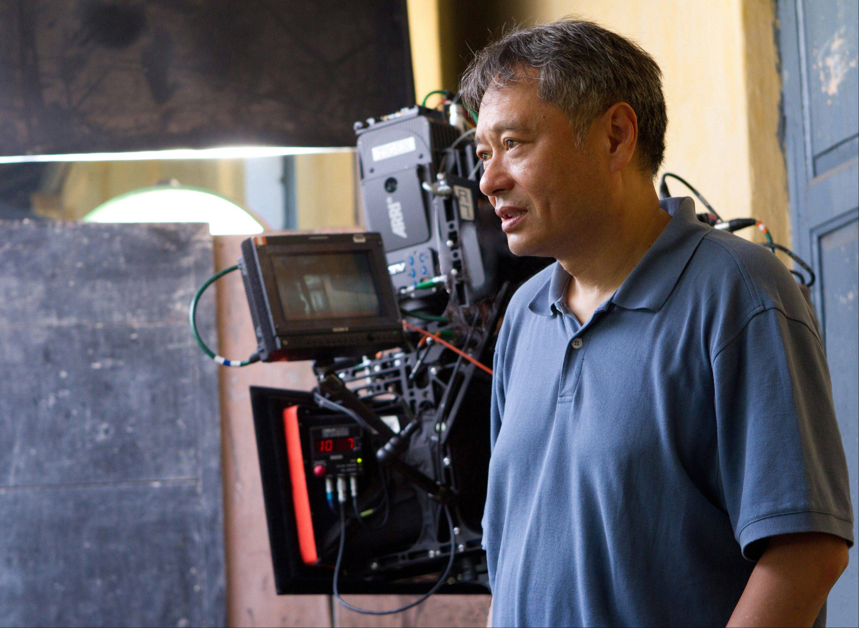 "This film image released by 20th Century Fox shows director Ang Lee on the set of ""Life of Pi."" Lee was nominated for an Academy Award for best director on Thursday, Jan. 10, 2013, for the film."