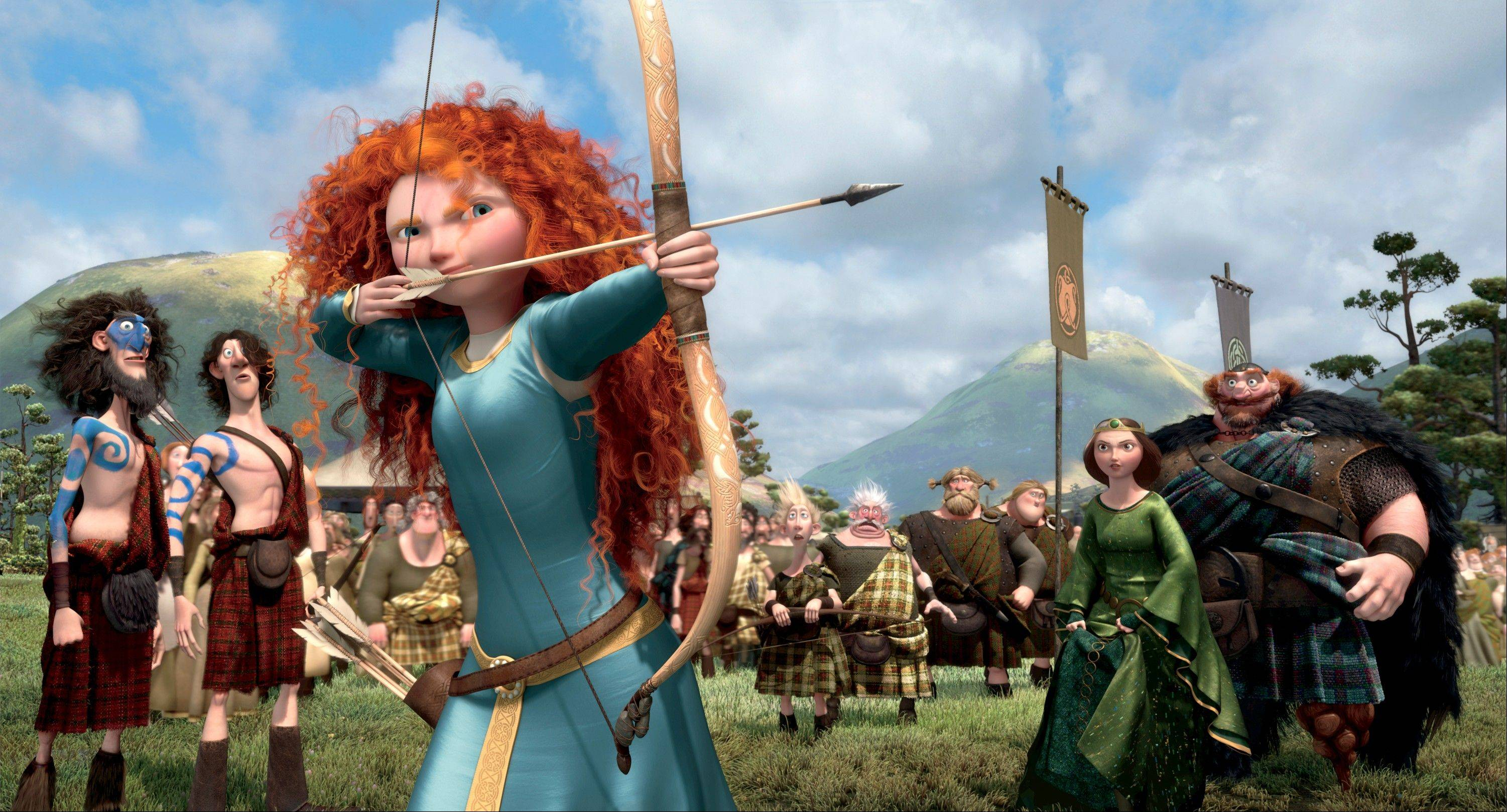 "This film image released by Disney/Pixar shows the character Merida, voiced by Kelly MacDonald, in a scene from ""Brave."" The film was nominated for an Academy Award for best animated picture on Thursday, Jan. 10, 2013."