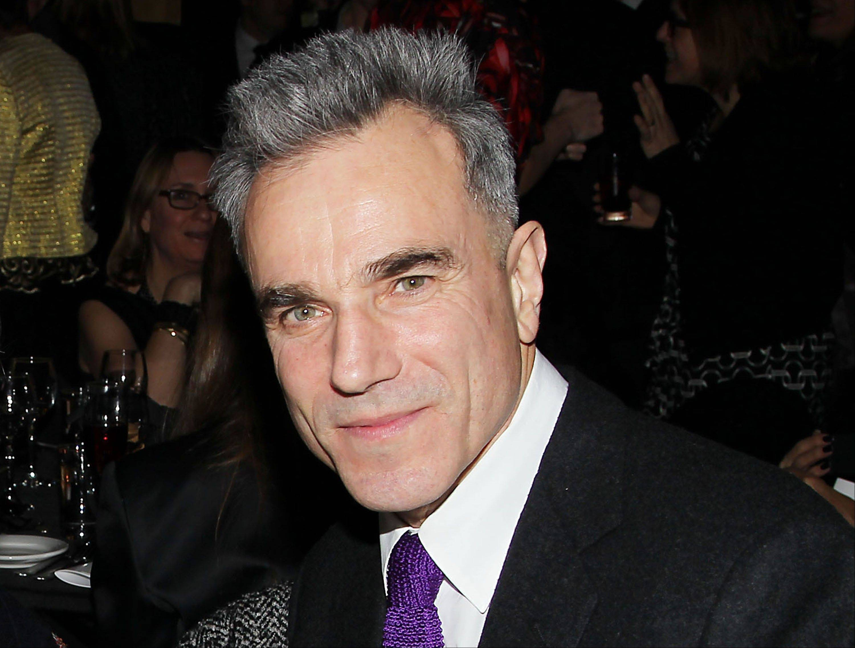 "This Jan. 7, 2013 file photo released by Starpix shows actor Daniel Day Lewis from ""Lincoln,"" at the New York Film Critics Circle awards dinner at the Crimson Club in New York. Lewis was nominated for an Academy Award for best actor on Thursday, Jan. 10, 2013, for his role in �Lincoln."