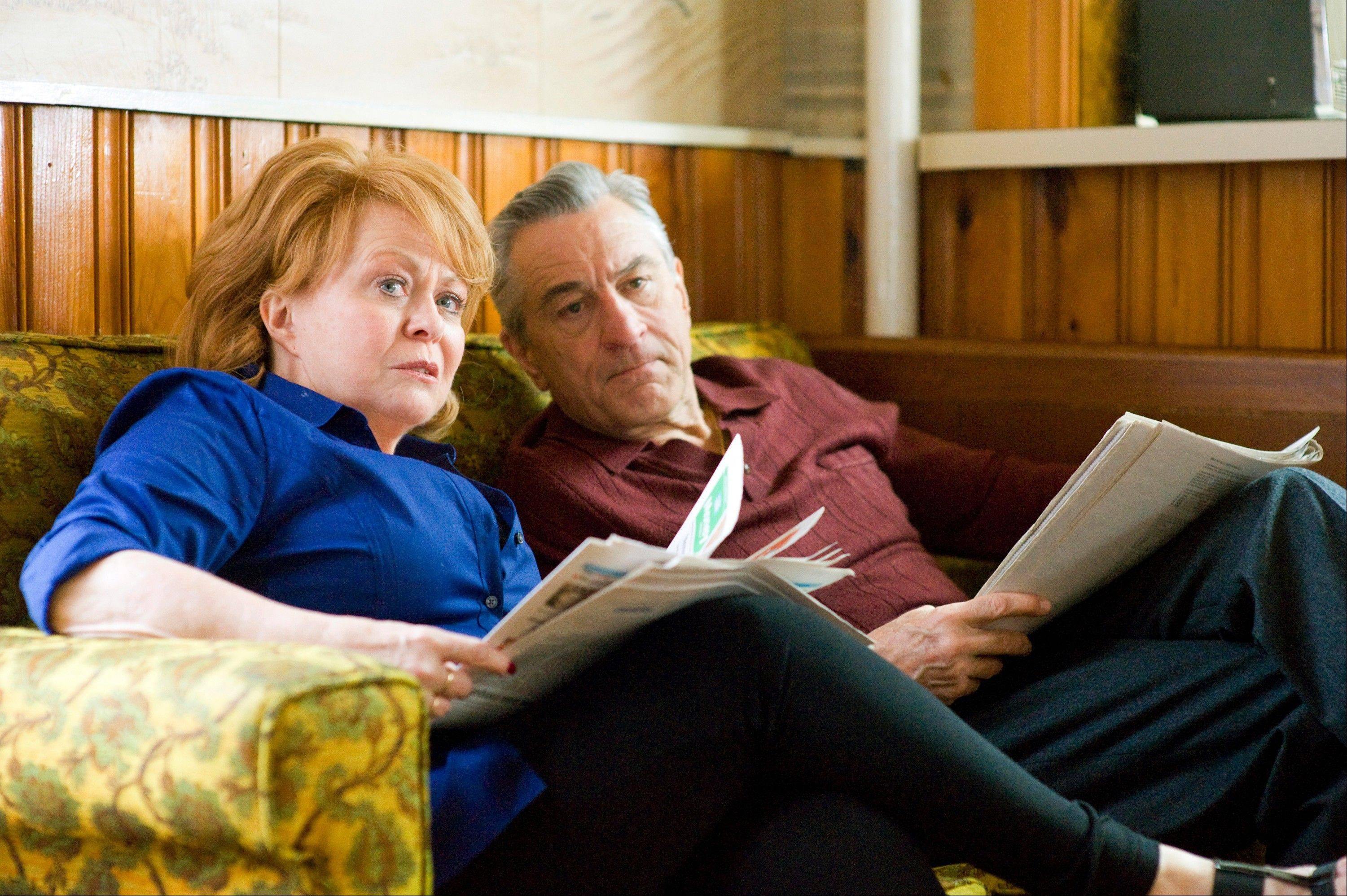 "This publicity film image released by The Weinstein Company shows Jacki Weaver, left, and Robert De Niro in ""Silver Linings Playbook."" Weaver and De Niro were nominated for an Academy Award for best supporting actress and actor on Thursday, Jan. 10, 2013, for their roles in �Silver Linings Playbook."