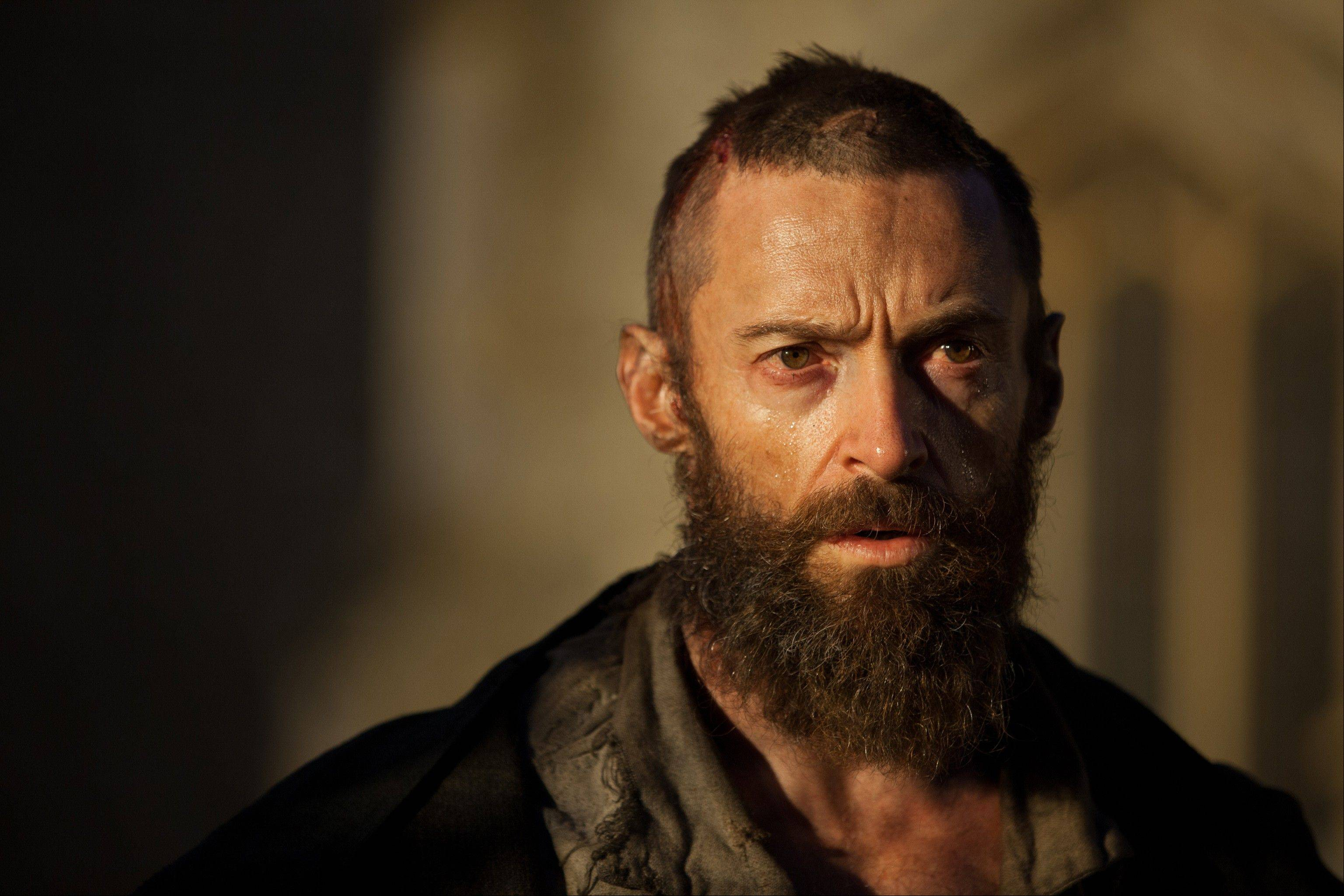 "This undated publicity image provided by Universal Pictures shows Hugh Jackman as Jean Valjean in a scene from the motion-picture adaptation of ""Les Mis�rables."" Jackman was nominated for an Academy Award for best actor on Thursday, Jan. 10, 2013, for his role in the film."