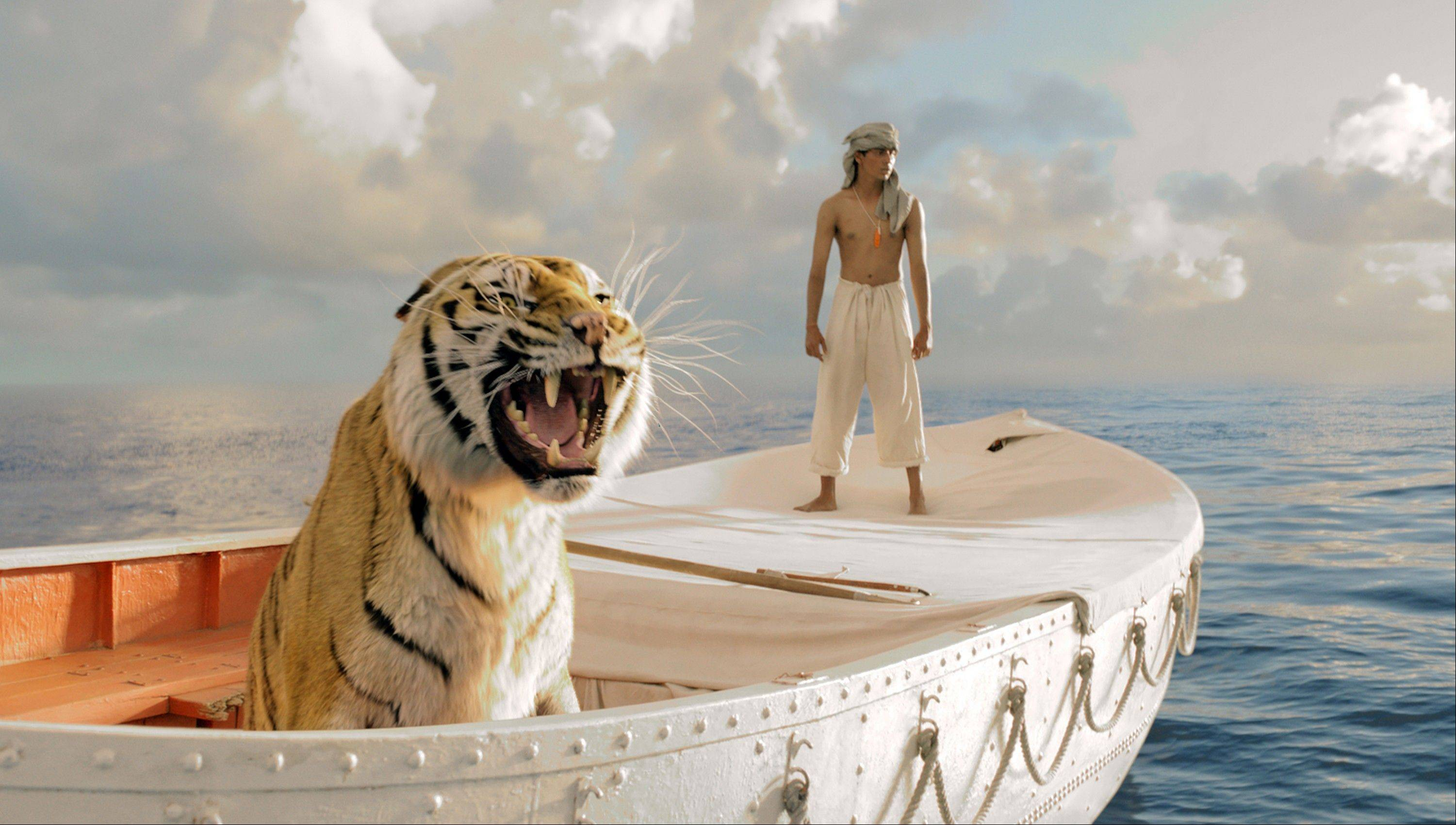 "This publicity film image released by 20th Century Fox shows Suraj Sharma in a scene from ""Life of Pi,"" directed by Ang Lee. The film was nominated for an Academy Award for best picture on Thursday, Jan. 10, 2013. The 85th Academy Awards will air live on Sunday, Feb. 24, 2013 on ABC."