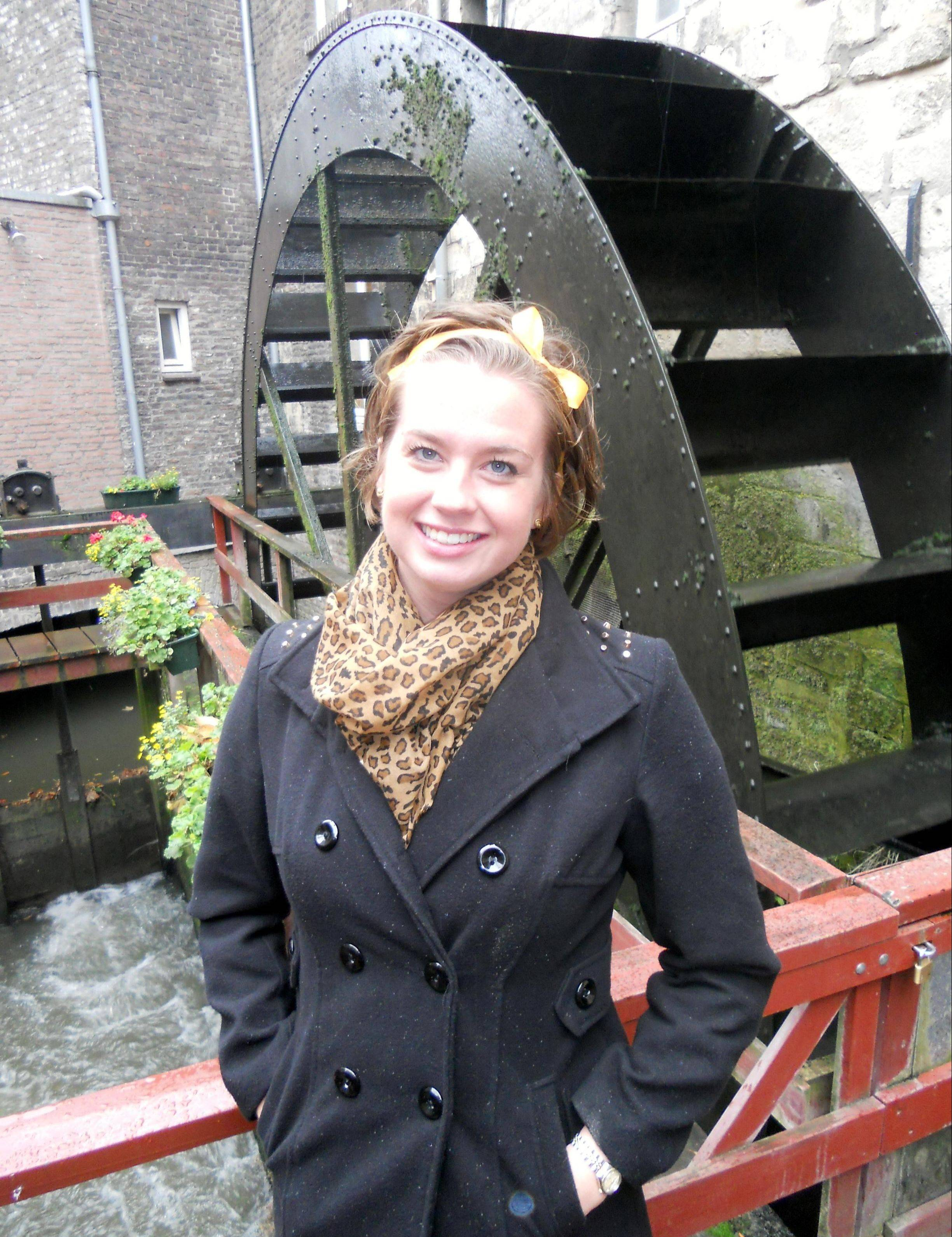 Rachel Cliburn of Long Grove, seen in visiting Amsterdam, is spending the year getting her master's degree in neuroscience in the Netherlands after winning a prestigious Fulbright grant..