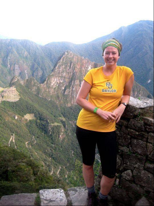 Rachel Cliburn pictured in May 2012 hiking the Inca Trail to Machu Picchu.