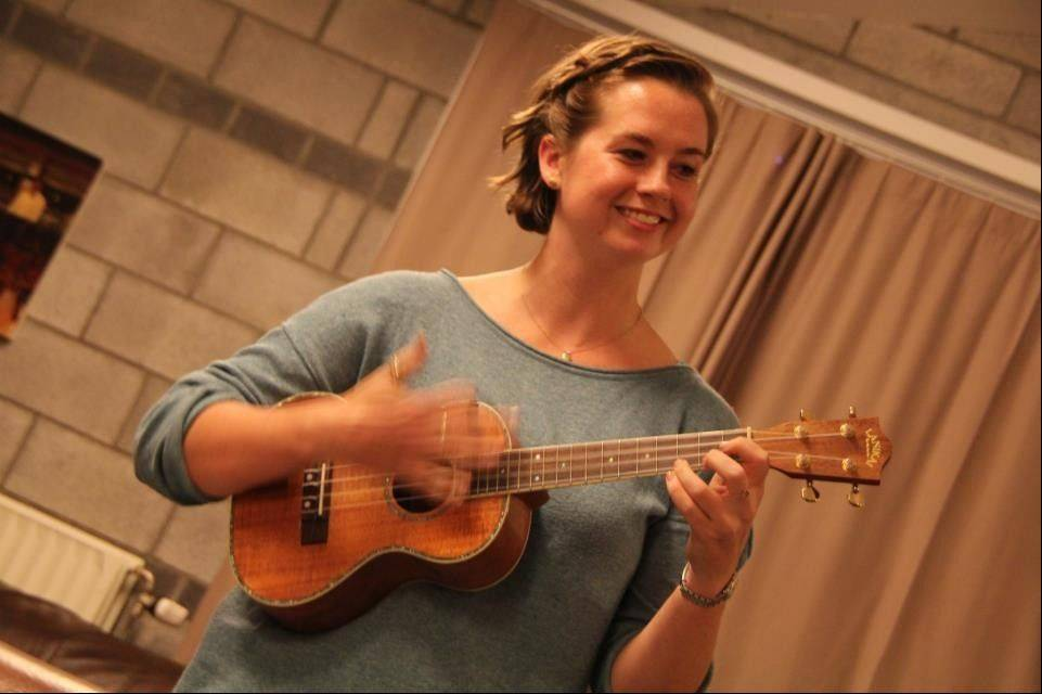 When she's not studying or doing research in a lab, Rachel Cliburn plays the ukulele.