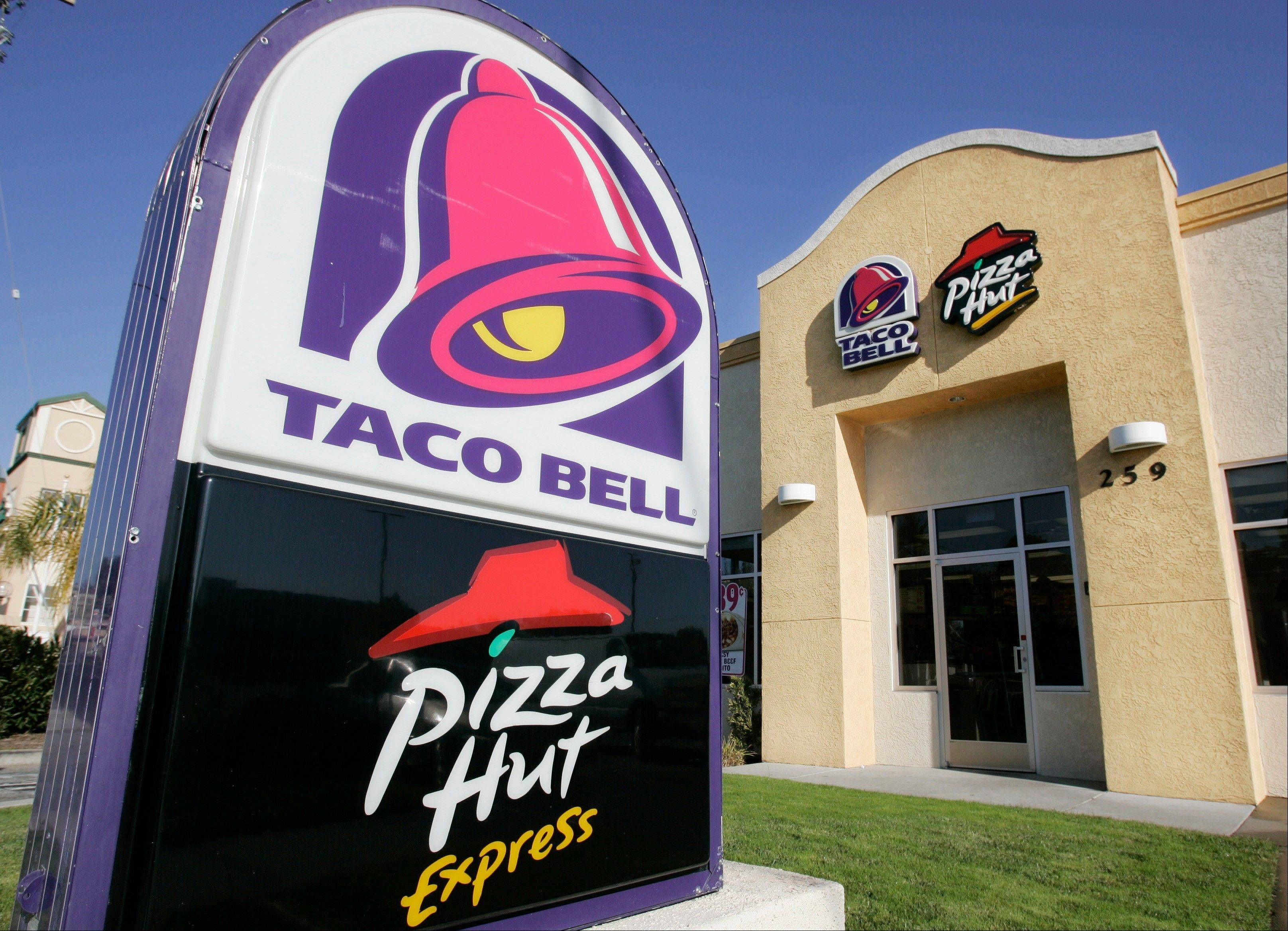 Taco Bell and Pizza Hut Express are shown in San Carlos, Calif.