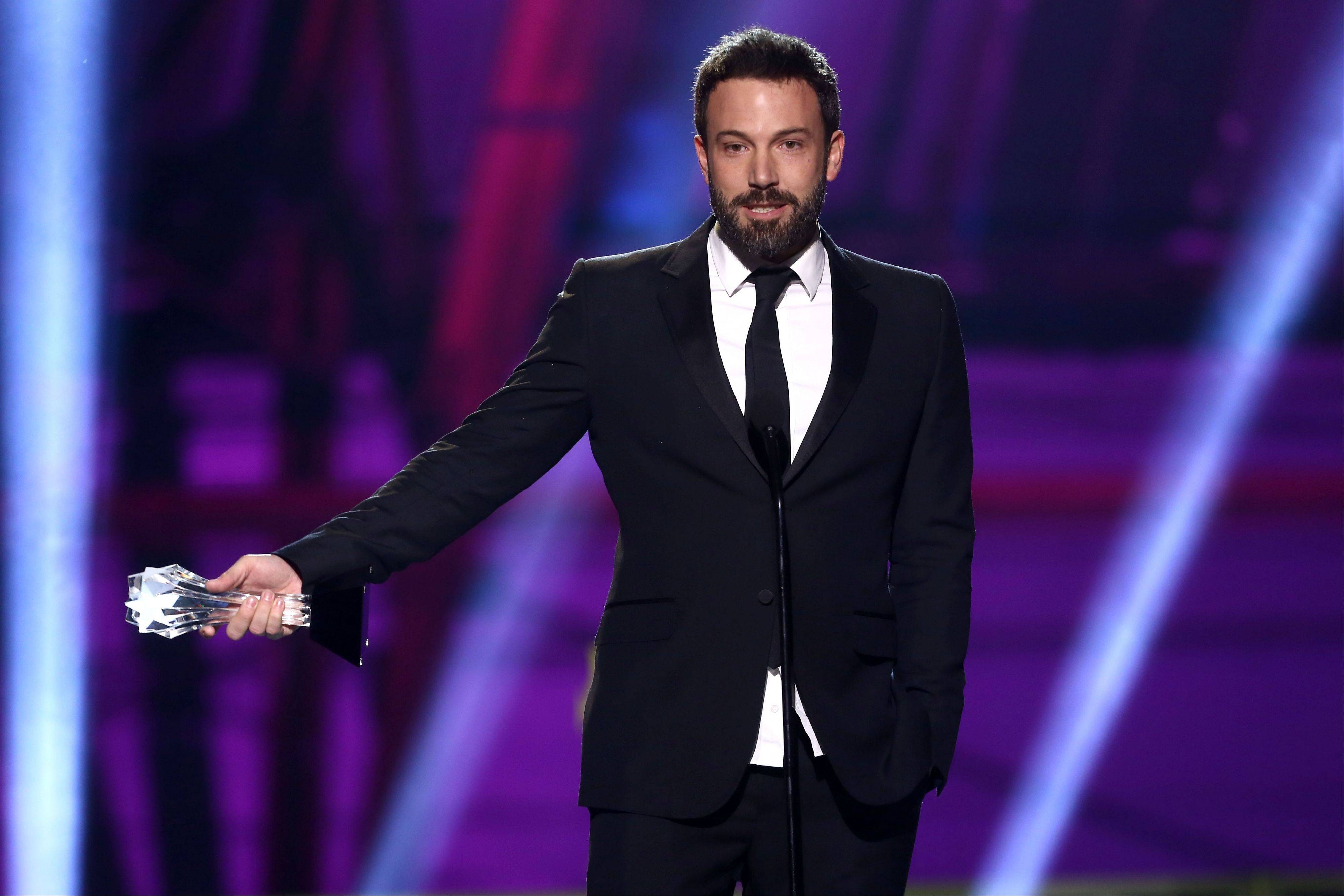 "Ben Affleck accepts the award for best director for ""Argo"" at the 18th Annual Critics' Choice Movie Awards on Thursday in Santa Monica, Calif."