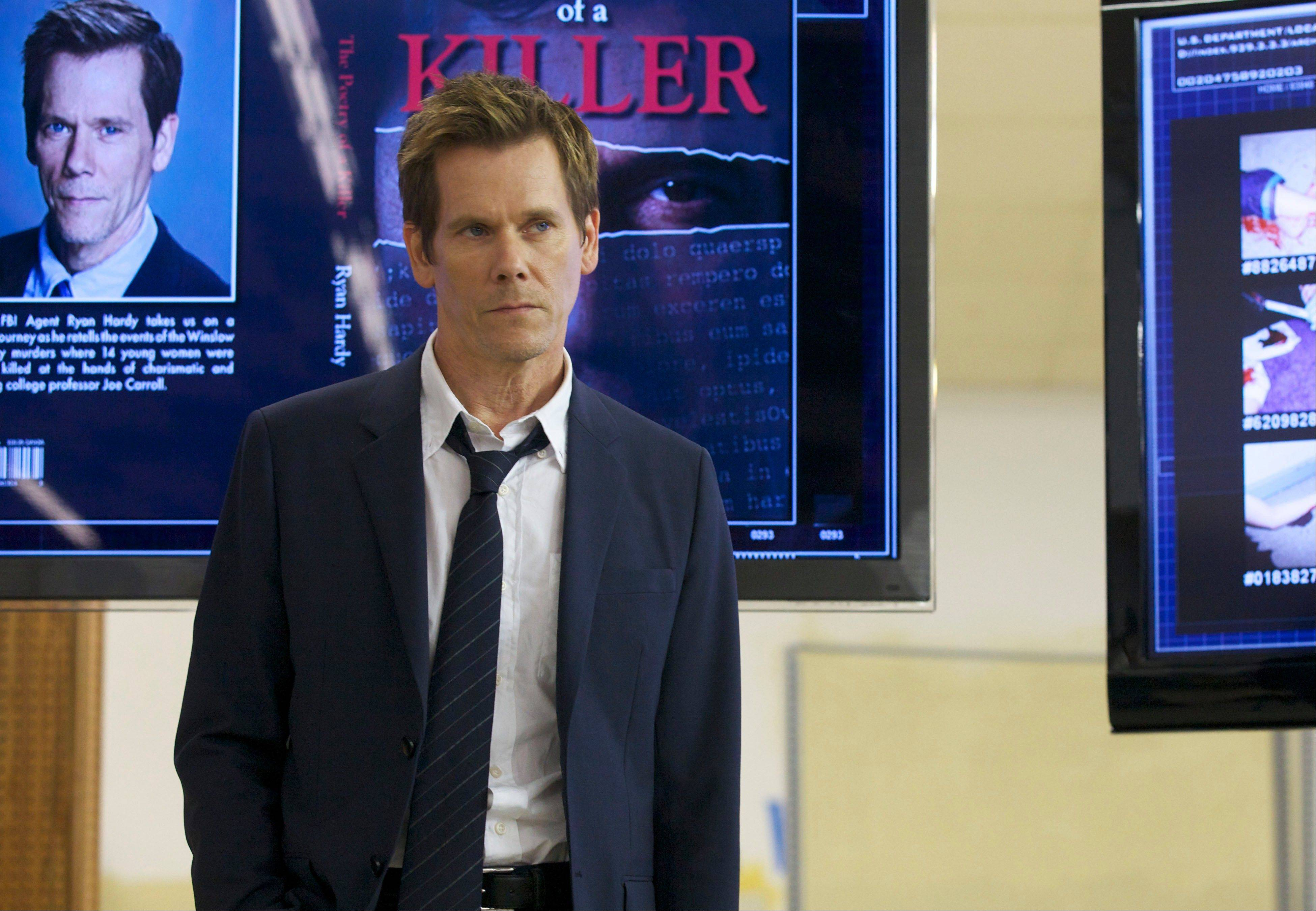 "Former FBI agent Ryan Hardy (Kevin Bacon) must help track down a serial killer who has escaped from prison in Fox's new drama ""The Following."""