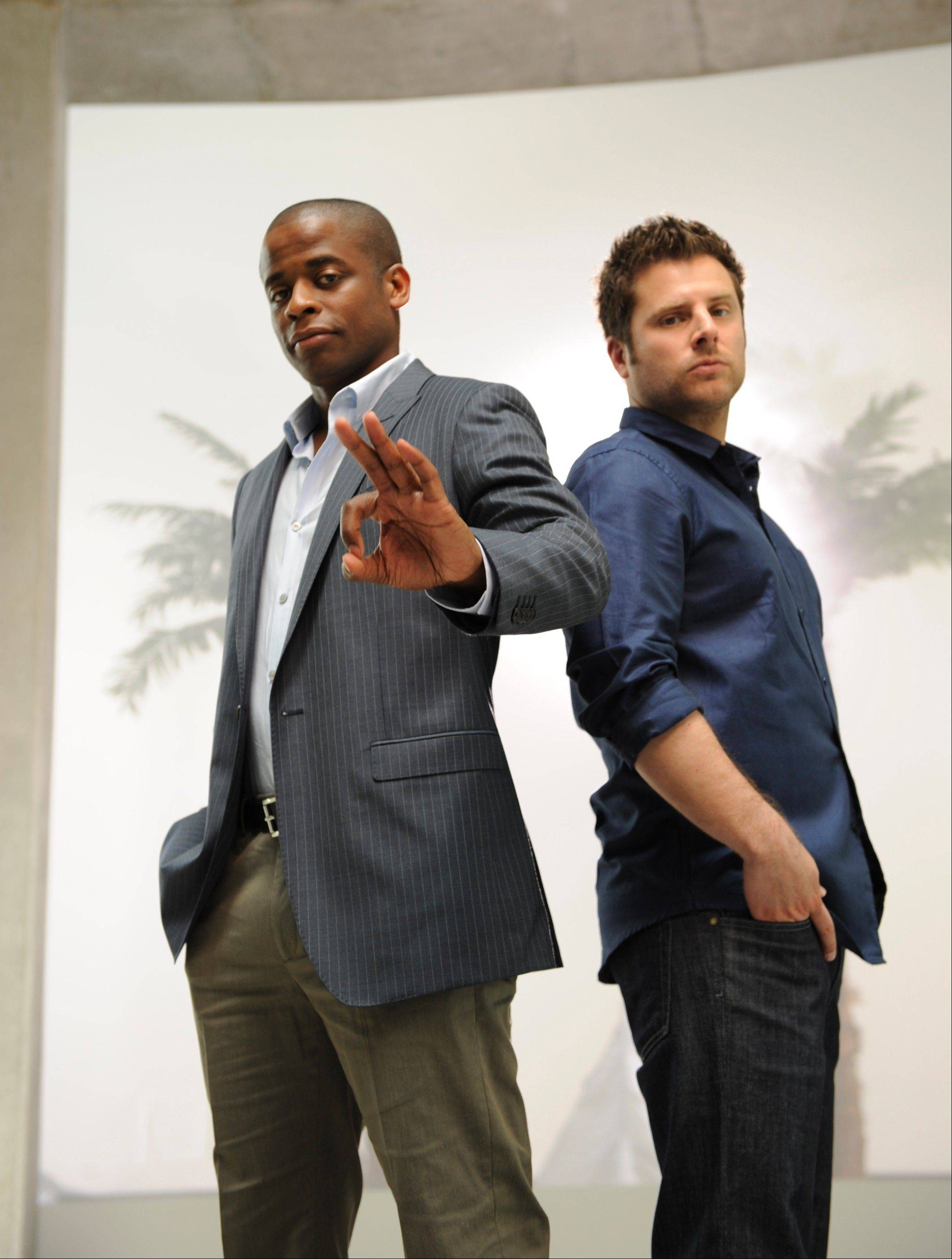 "Dule Hill and James Roday in ""Psych"""