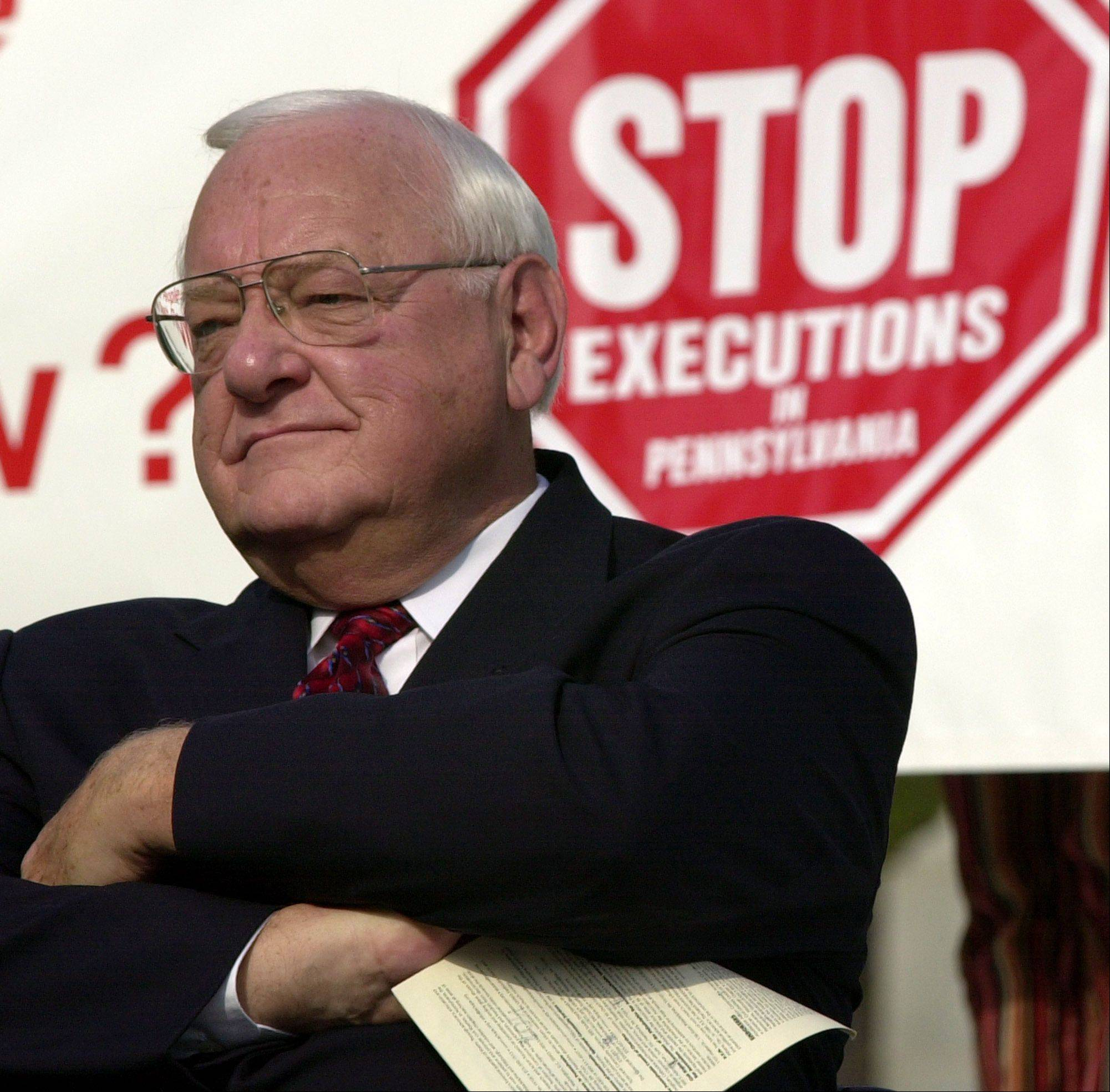 Former Illinois Gov. George Ryan called for a moratorium on executions in Pennsylvania at a rally on Oct. 11, 2003.