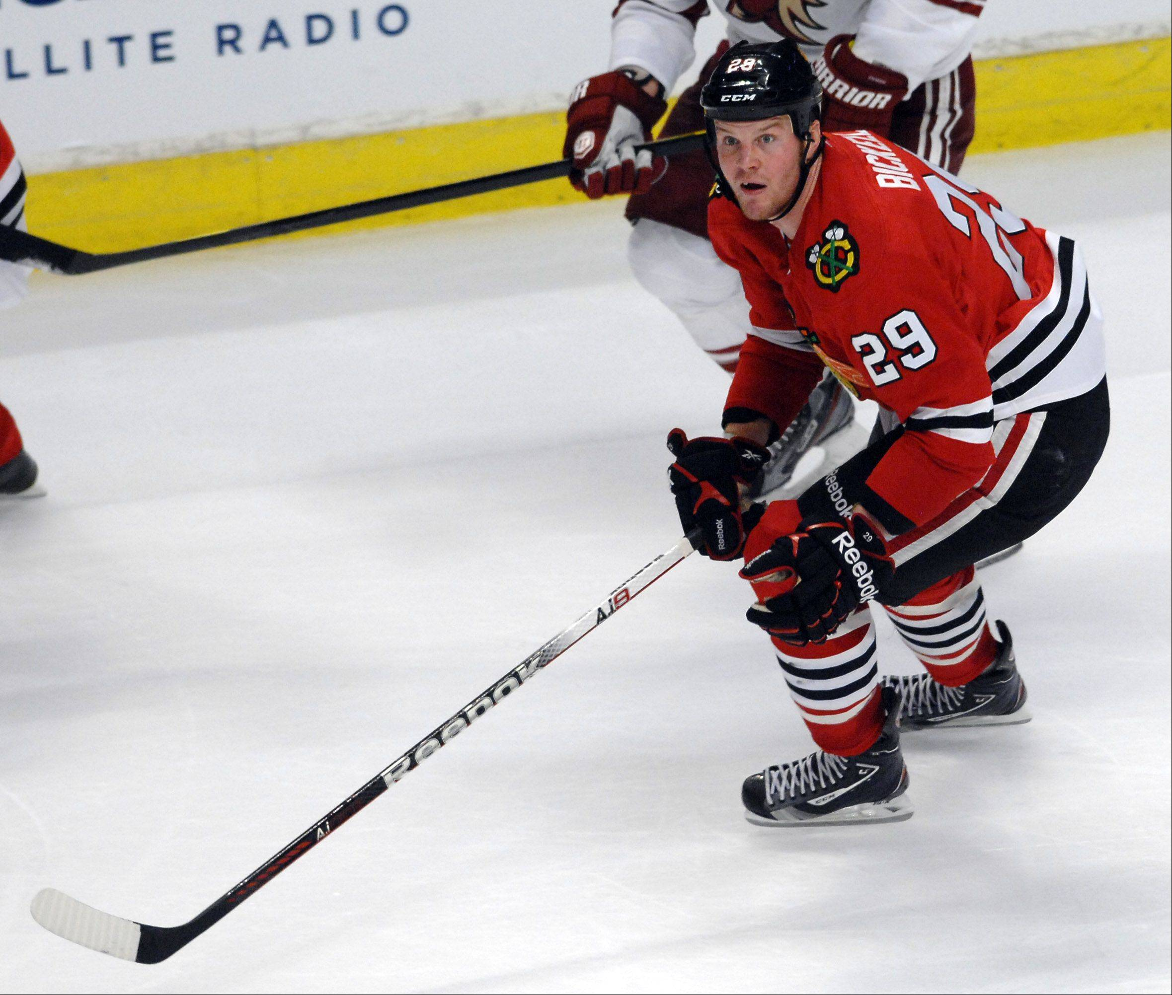 Blackhawks left wing Bryan Bickell scored on just 4.3 percent of his shots last season for the Blackhawks.
