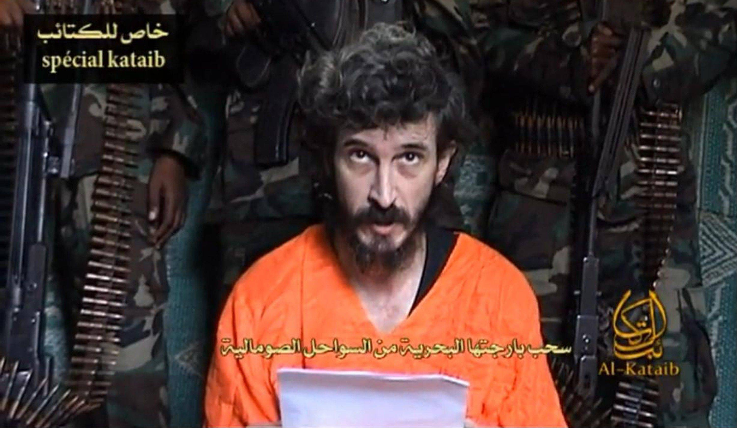 Associated Press/June 9 2010 A man identified as French security agent Denis Allex pleads for his release more than two years ago, from the Somali militant group al-Shabaab.