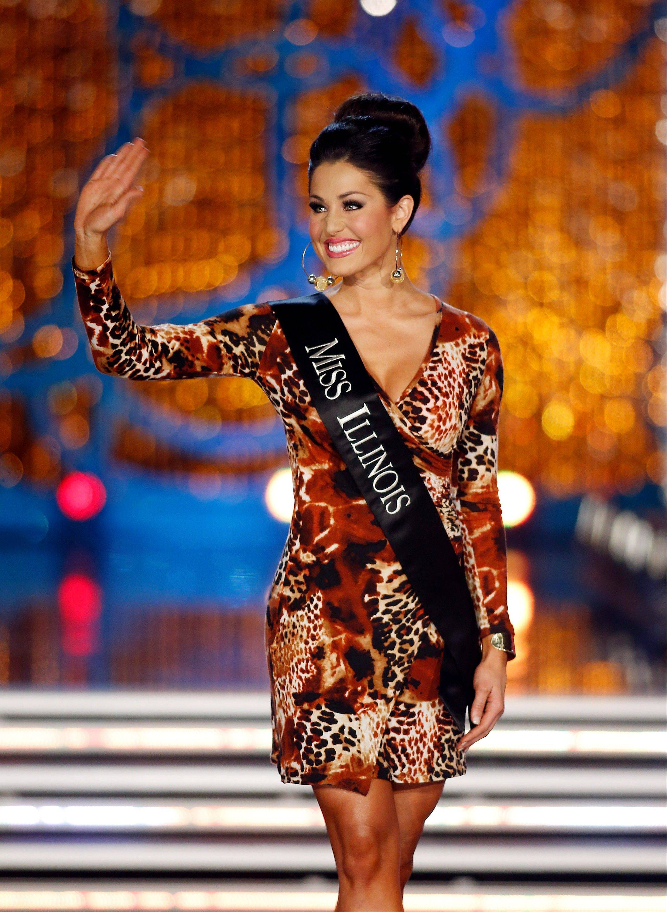 Miss Illinois Megan Ervin competes in the Miss America pageant on Saturday, Jan. 12, 2013, in Las Vegas.