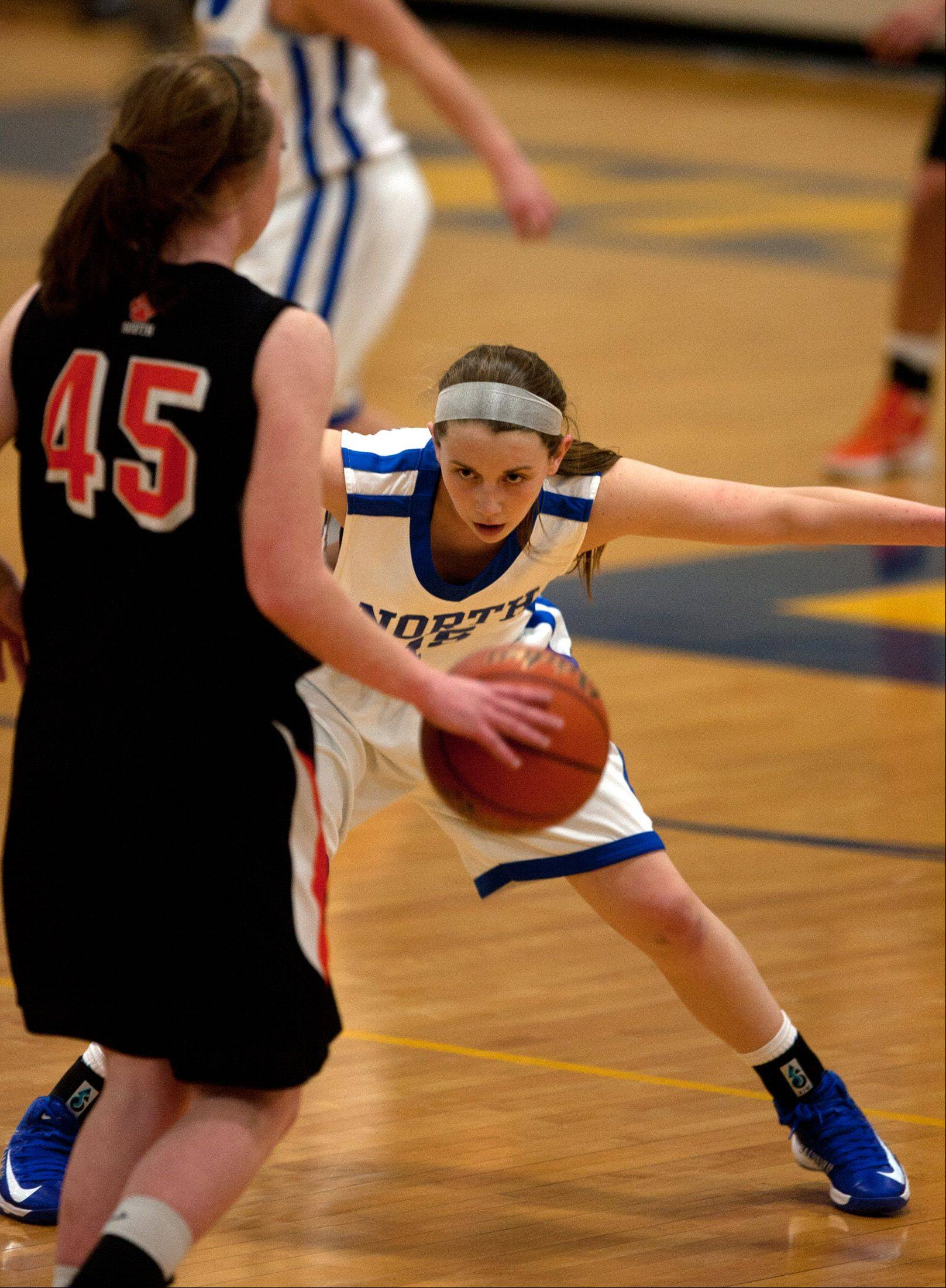 Images from the Wheaton North vs. Wheaton Warrenville South girls' basketball game on Saturday, Jan. 12, 2013.