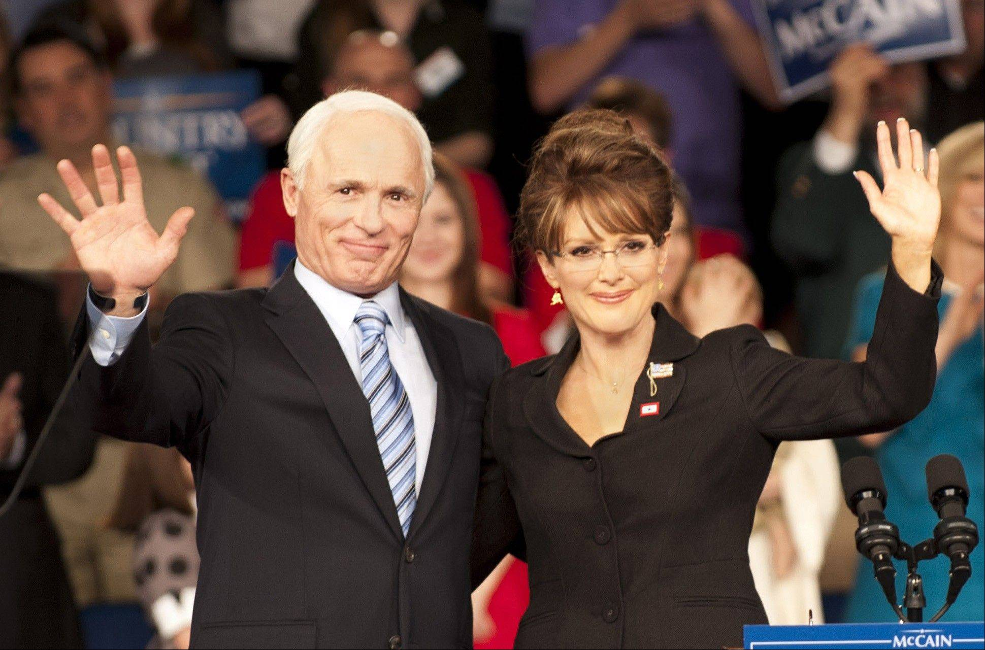 Ed Harris stars as John McCain and Julianne Moore as 2008 running mate Sarah Palin in HBO�s �Game Change,� now on DVD.