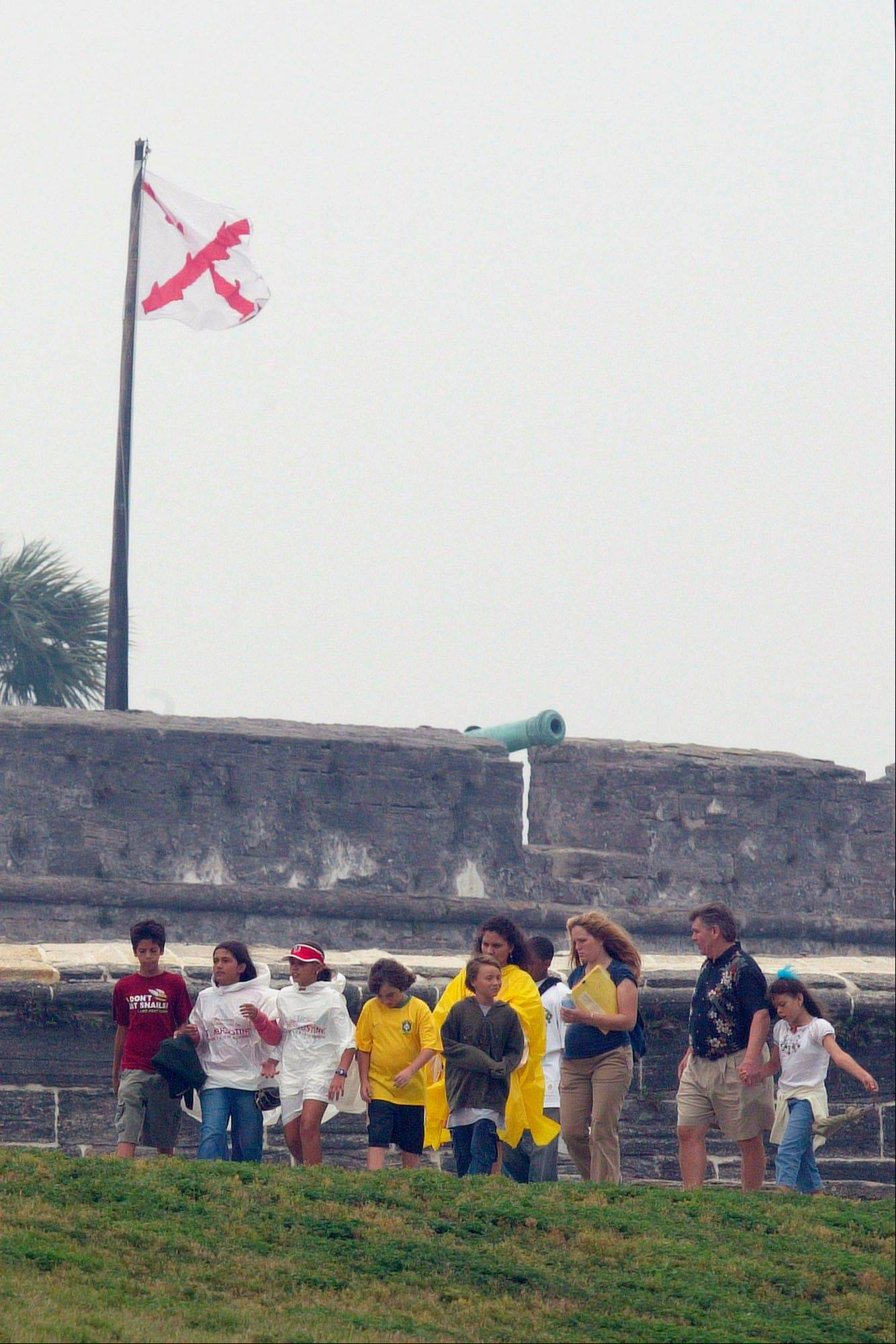 The Spanish built the Castillo de San Marcos, an imposing fort constructed of the stone coquina between 1672 and 1696 in St. Augustine, Fla. This year Florida is marking the 500th Anniversary since the explorer Ponce de Leon landed in Florida in April 1513.