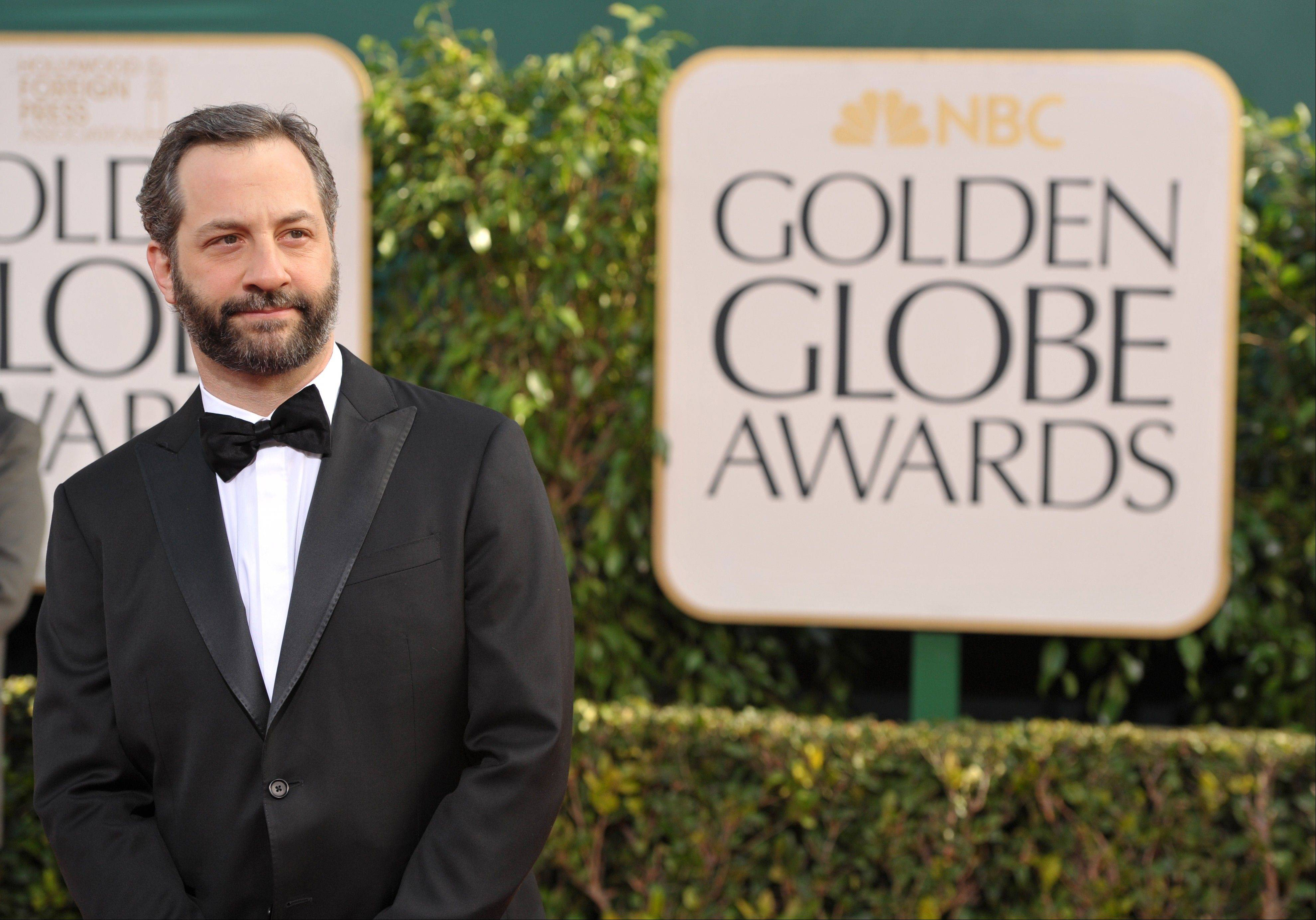 Writer/director Judd Apatow arrives at the 70th Annual Golden Globe Awards at the Beverly Hilton Hotel on Sunday Jan. 13, 2013, in Beverly Hills, Calif.