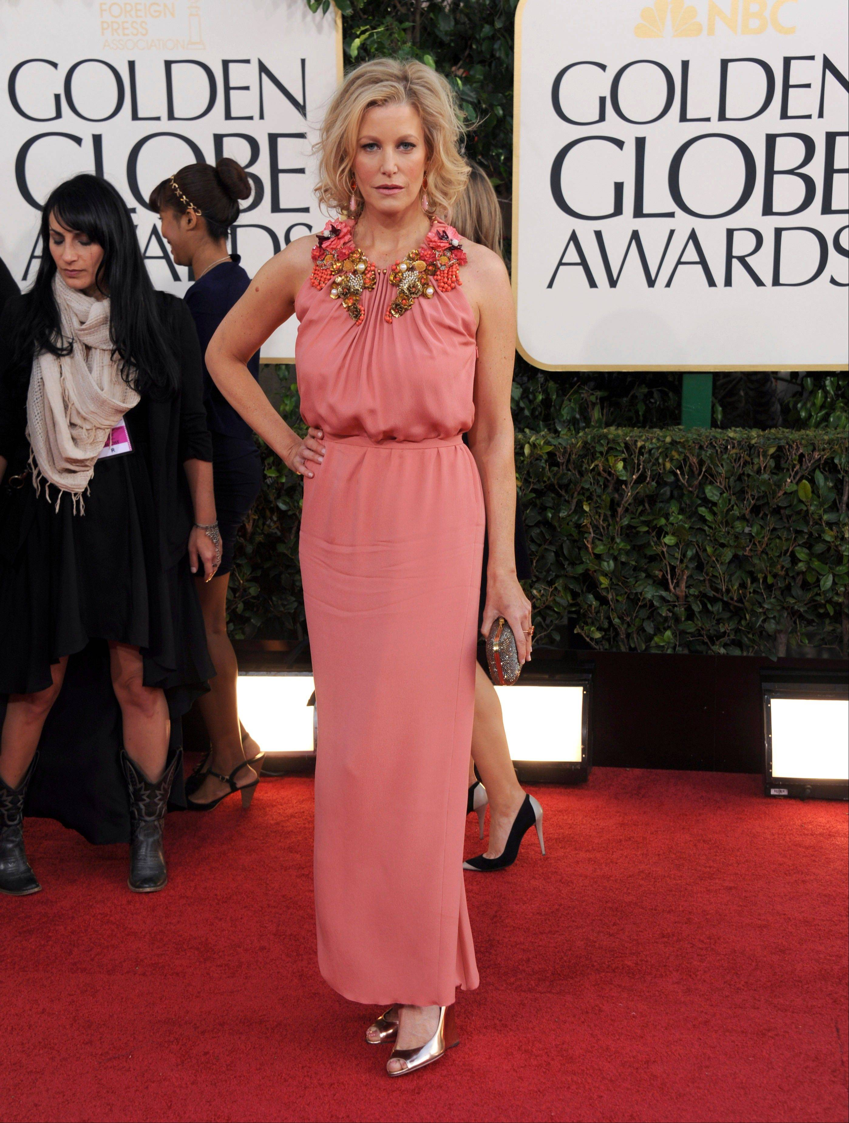 """Breaking Bad"" actress Anna Gunn arrives at the 70th Annual Golden Globe Awards at the Beverly Hilton Hotel on Sunday Jan. 13, 2013, in Beverly Hills, Calif. (Photo by Jordan Strauss/Invision/AP)"