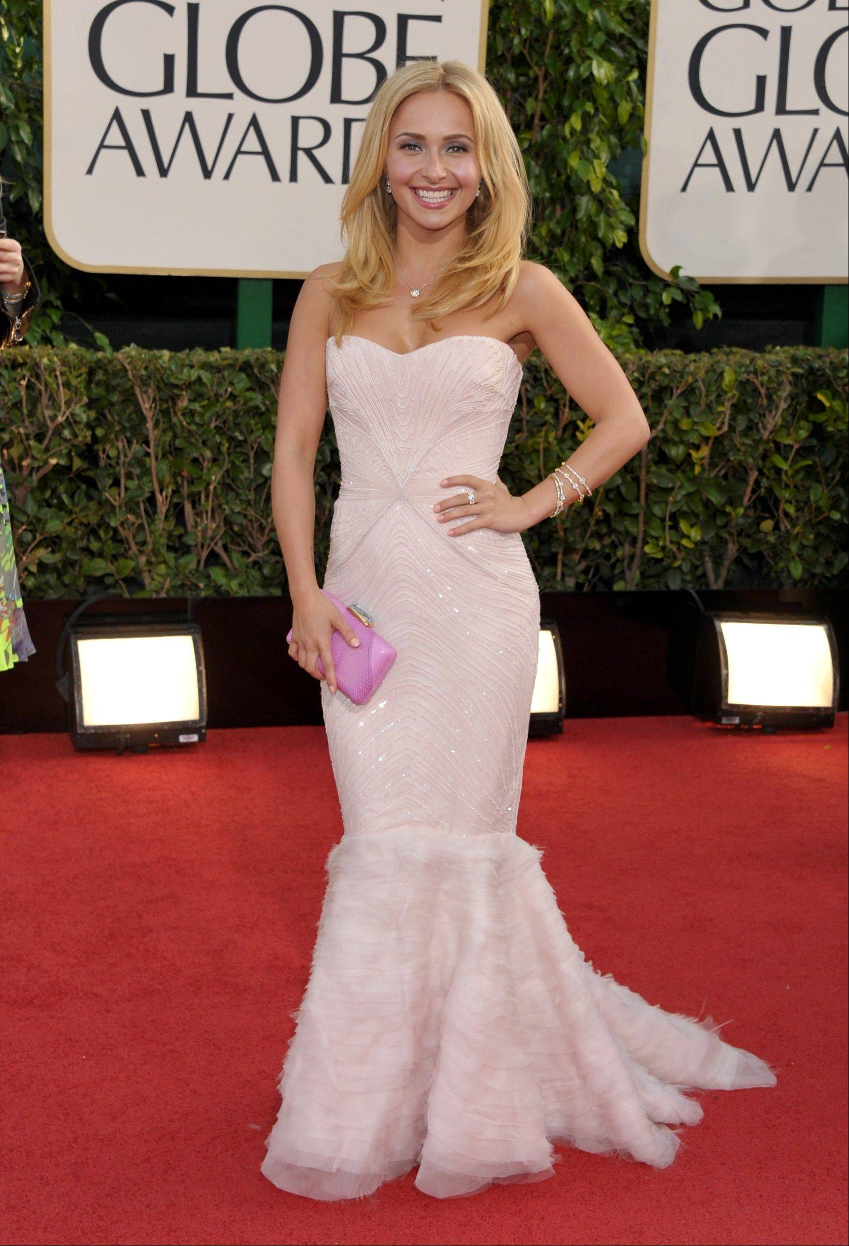 """Nashville"" actress Hayden Panettiere arrives at the 70th Annual Golden Globe Awards at the Beverly Hilton Hotel on Sunday Jan. 13, 2013, in Beverly Hills, Calif."