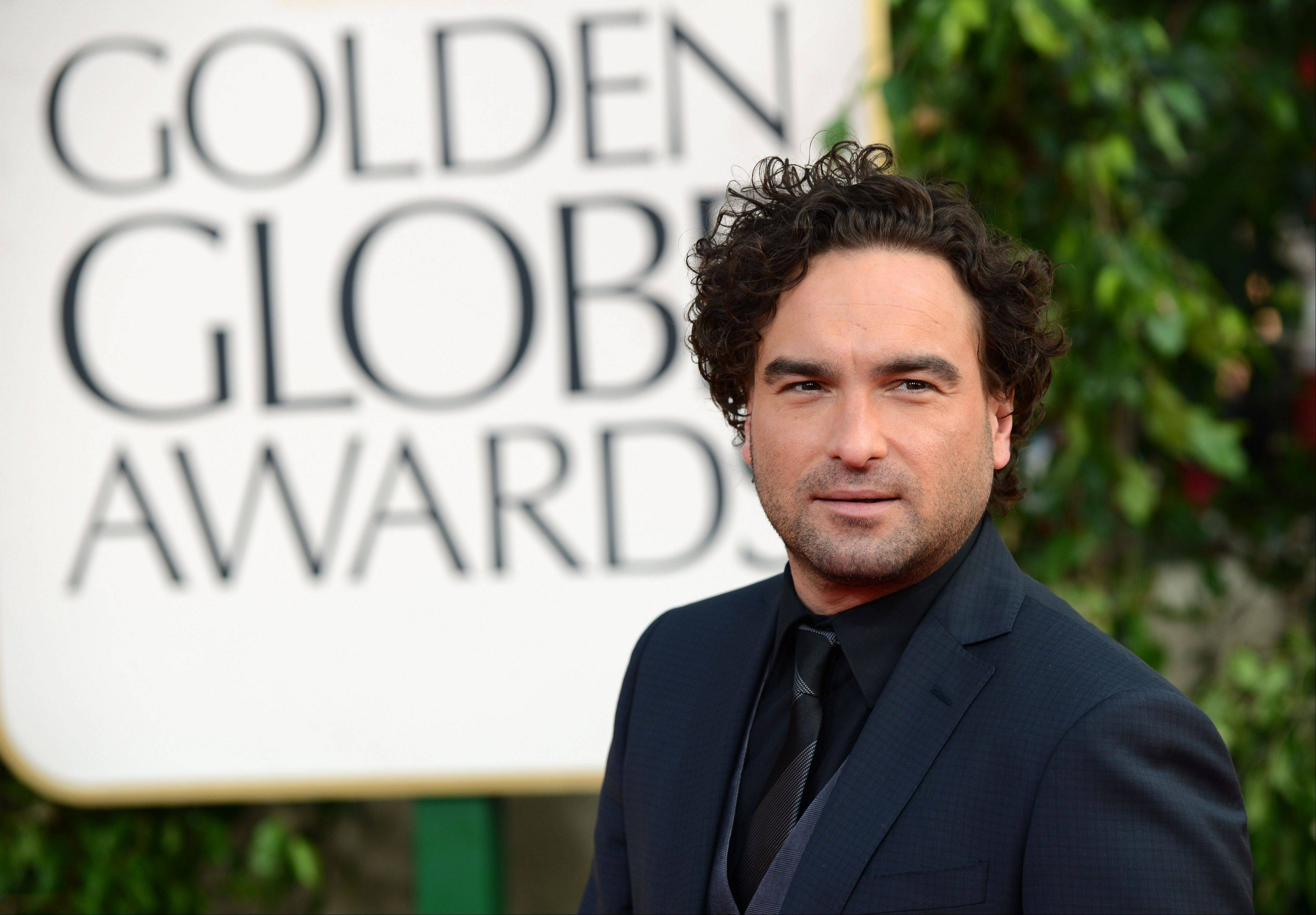"""The Big Bang Theory"" actor Johnny Galecki arrives at the 70th Annual Golden Globe Awards at the Beverly Hilton Hotel on Sunday Jan. 13, 2013, in Beverly Hills, Calif."
