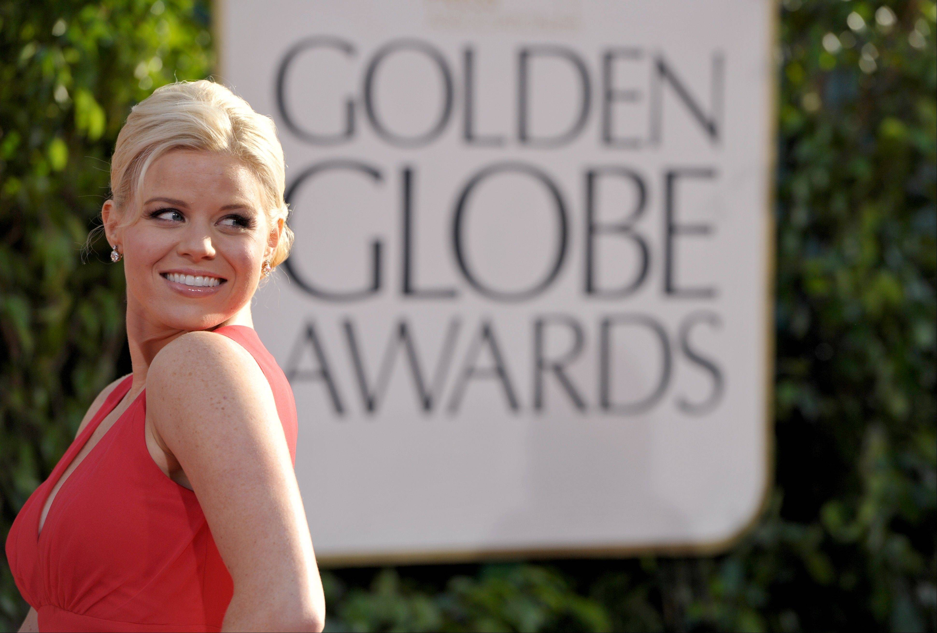 """Smash"" star Megan Hilty arrives at the 70th Annual Golden Globe Awards at the Beverly Hilton Hotel on Sunday Jan. 13, 2013, in Beverly Hills, Calif."
