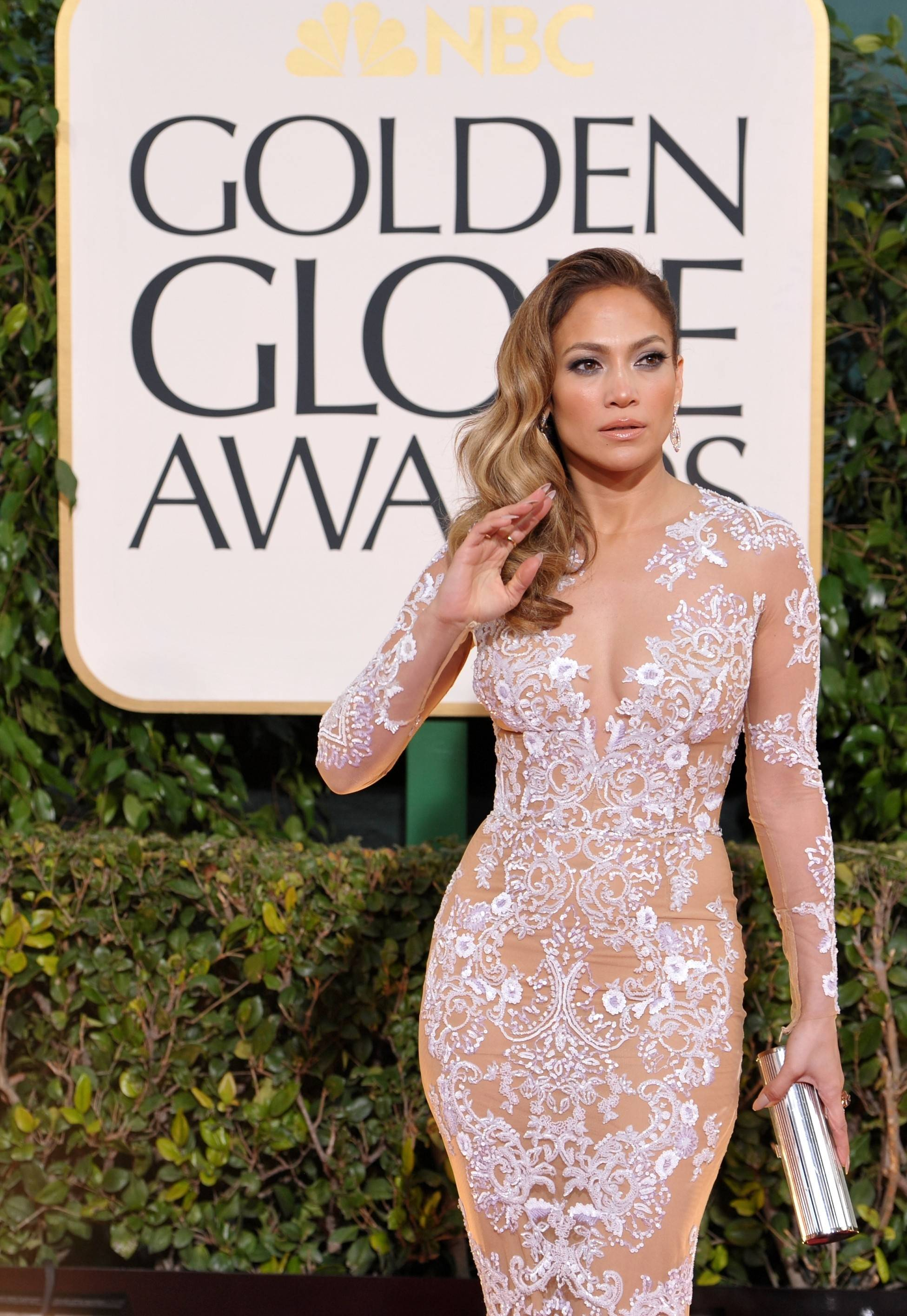 Singer and actress Jennifer Lopez goes for a more edgy look.