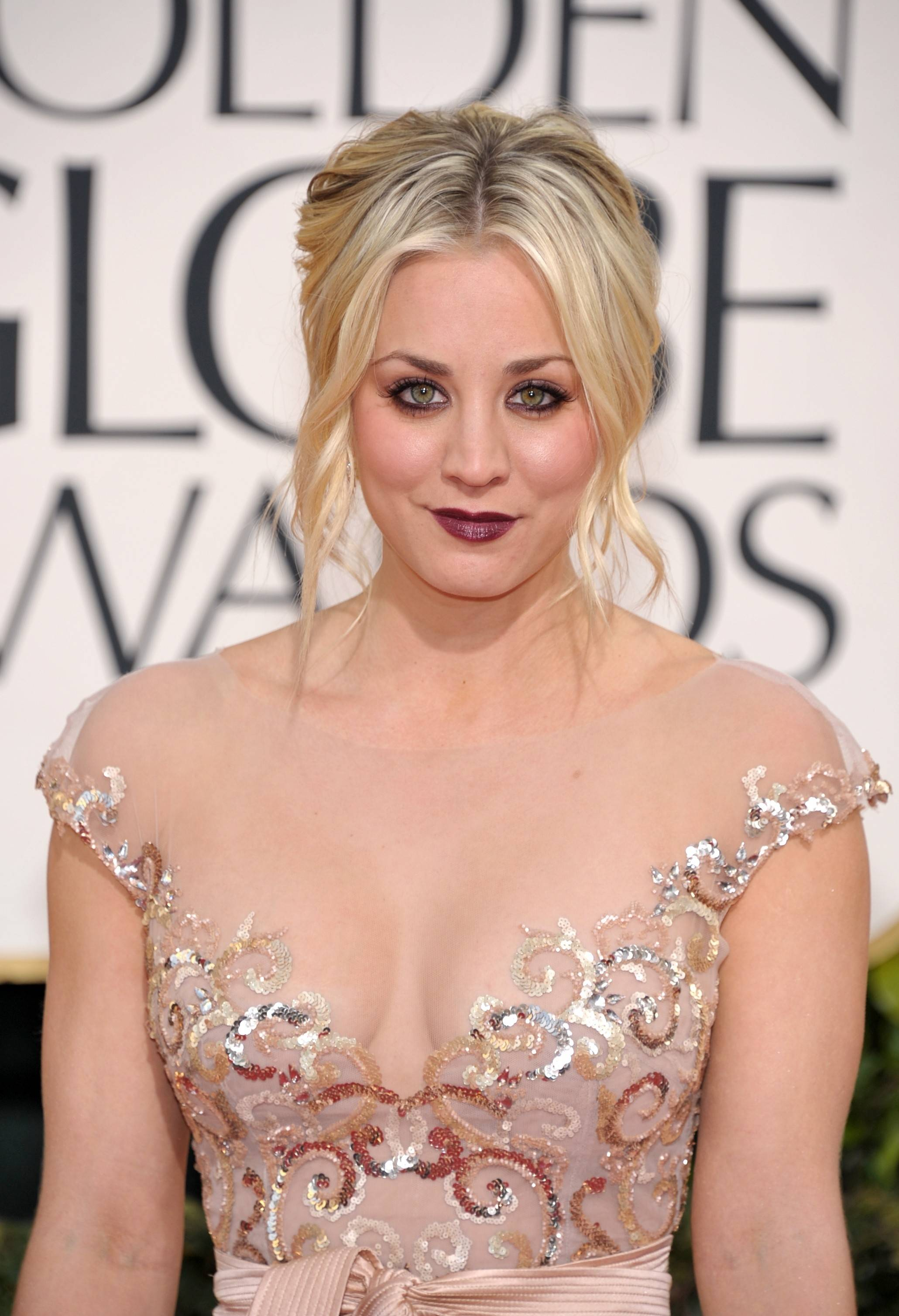 """The Big Bang Theory"" star Kaley Cuoco walks the red carpet."